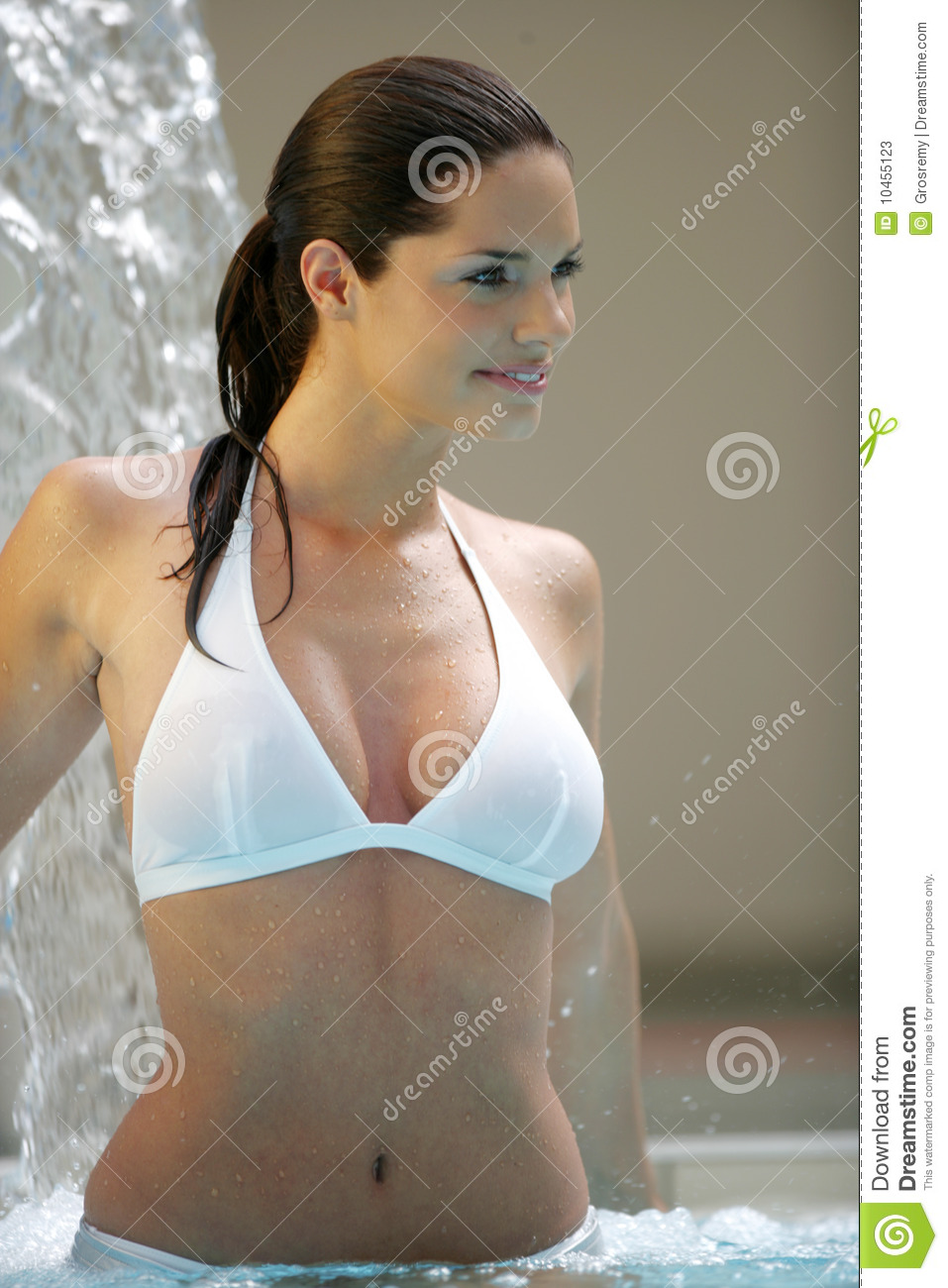 Beautiful Young Woman At A Pool Stock Image Image 10455123