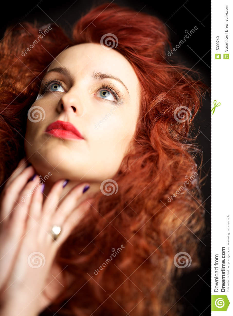 young girl with red hair stock photo image of forest beautiful young woman with red hair stock photo image