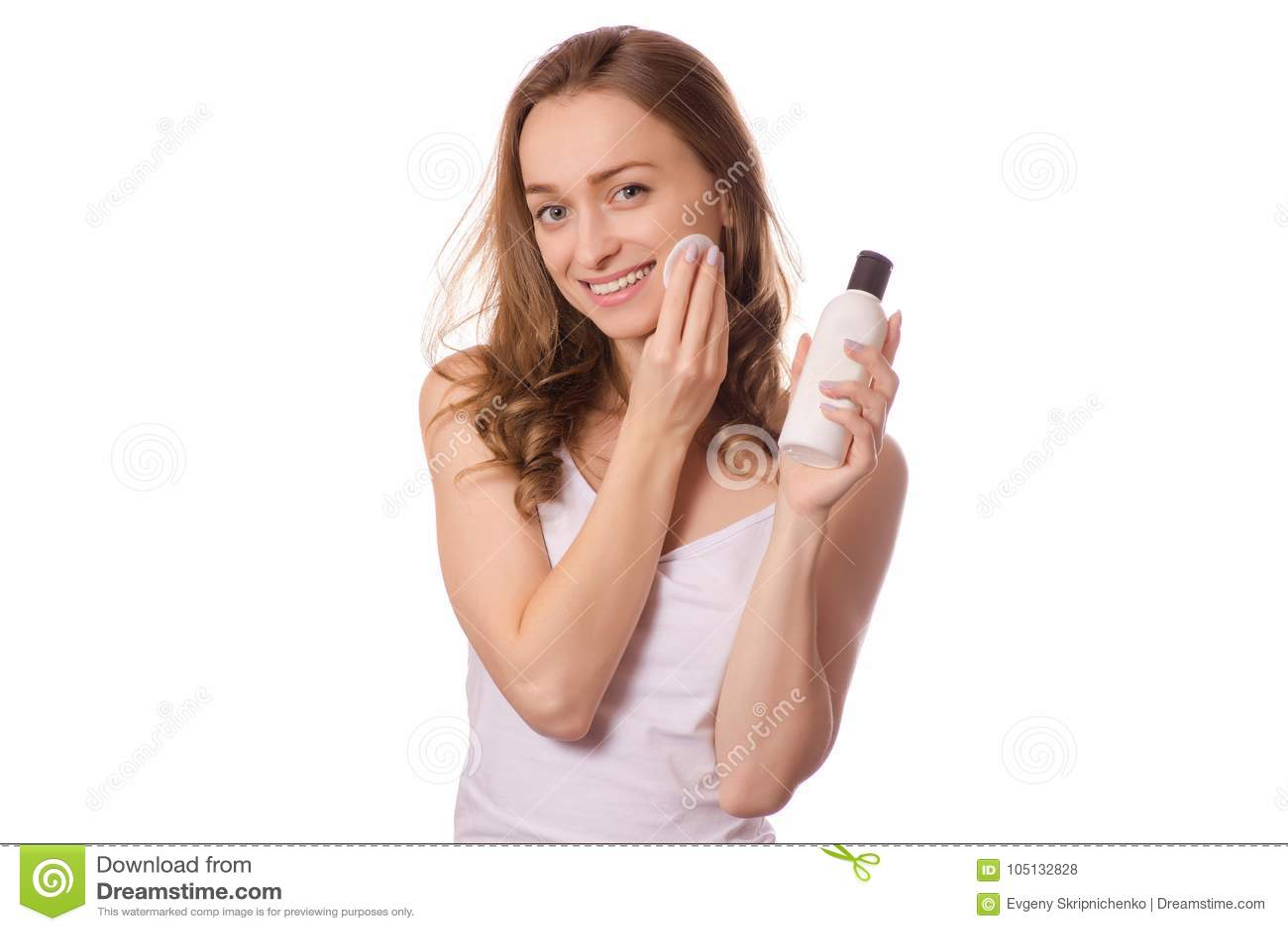 Woman Removing Makeup Stock Image Cartoondealer Com