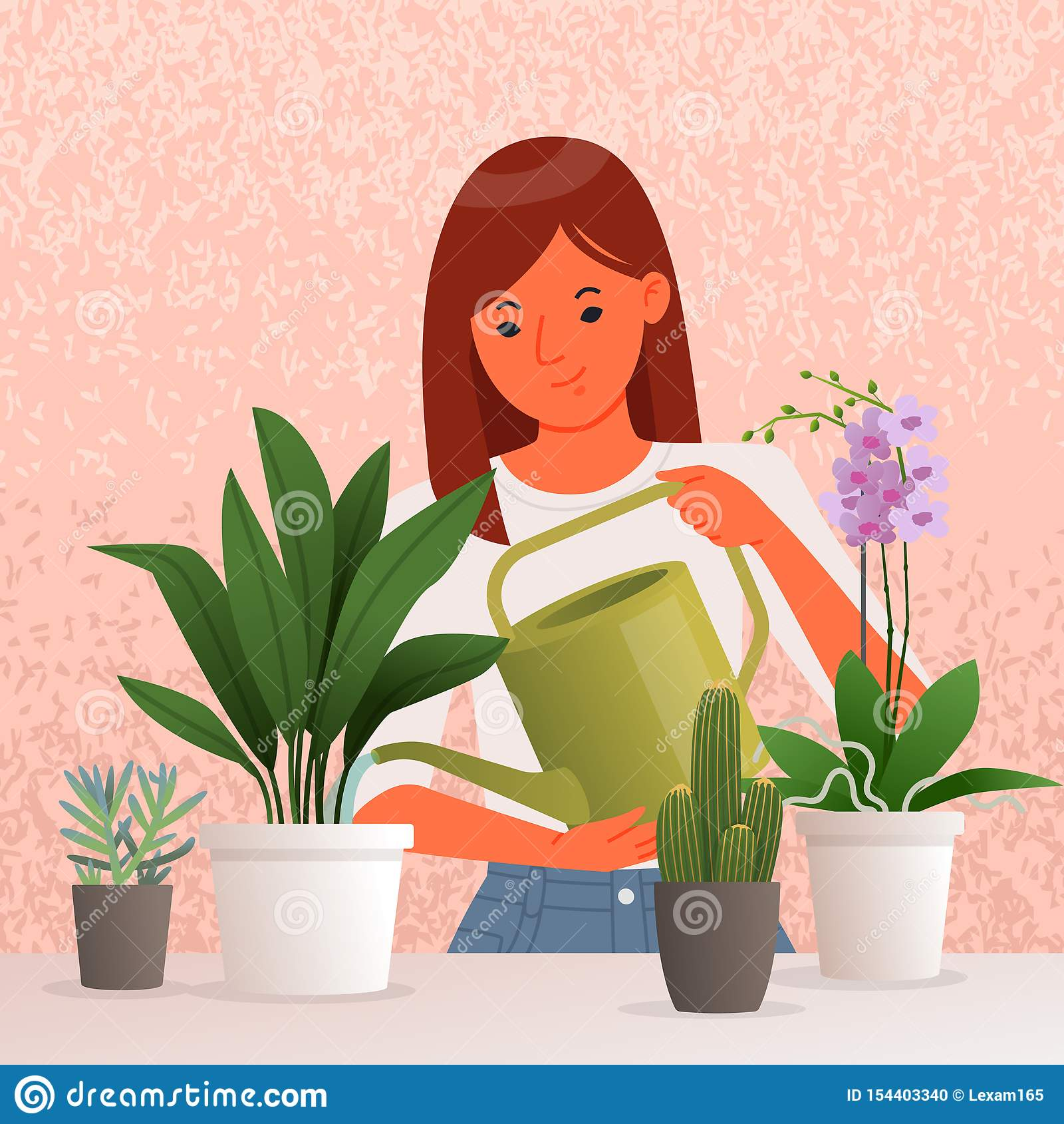 Beautiful Young Woman Watering Houseplants. Caring For ... on tall slim plants, talking plants, positive energy plants, respecting plants, sharing plants, awesome plants, most important plants, detailed plants, creative plants, england plants, strong plants, balanced plants, resilient plants, learning plants, meaningful plants, peaceful plants, tough plants, protecting plants, friendly plants, loving plants,