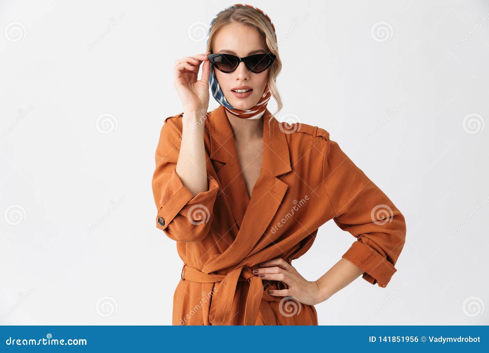 Beautiful Screaming Young Blonde Pretty Woman Wearing Silk