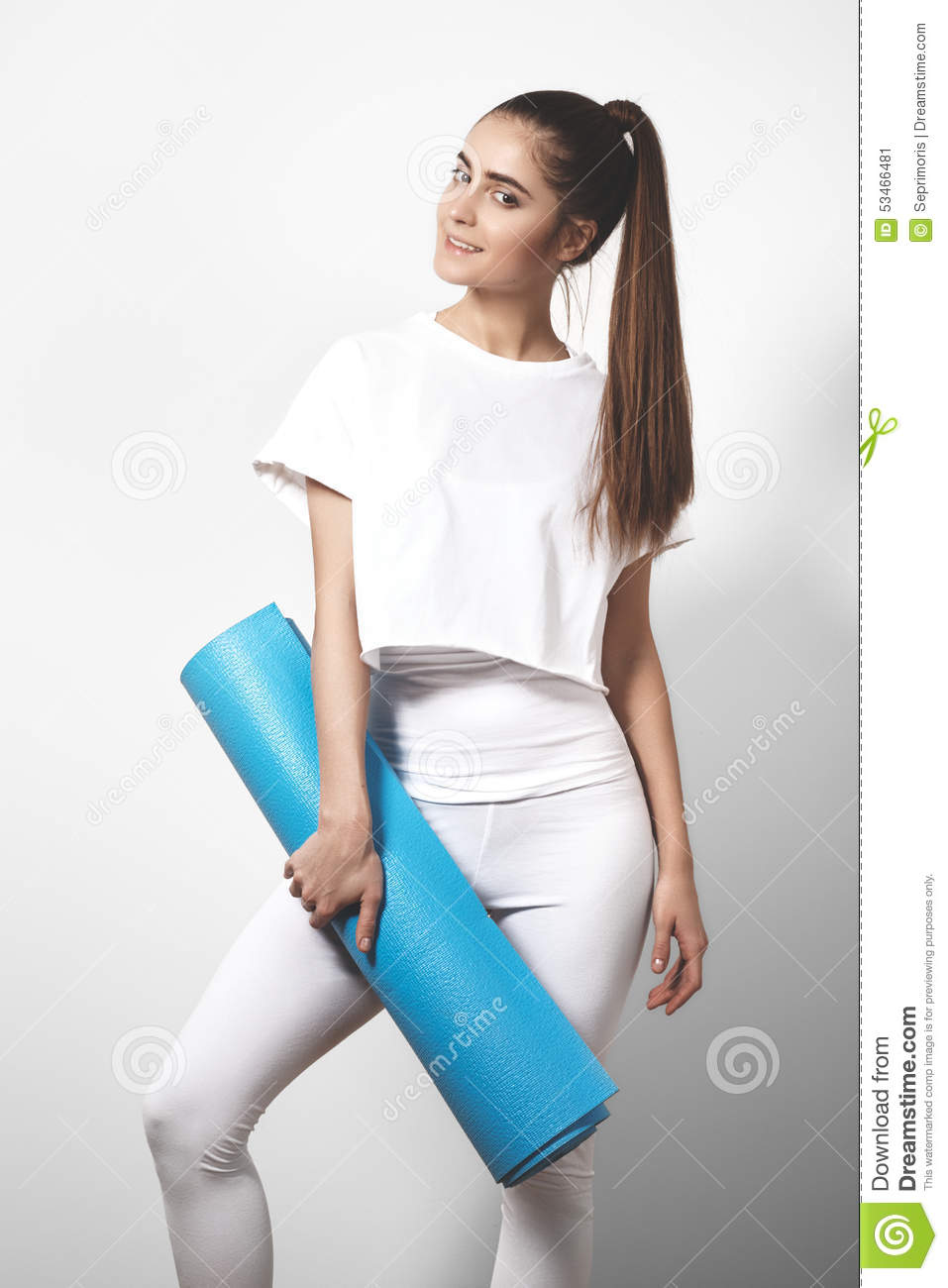 Young And Strong Fitness Woman Posing Royalty-Free Stock ...
