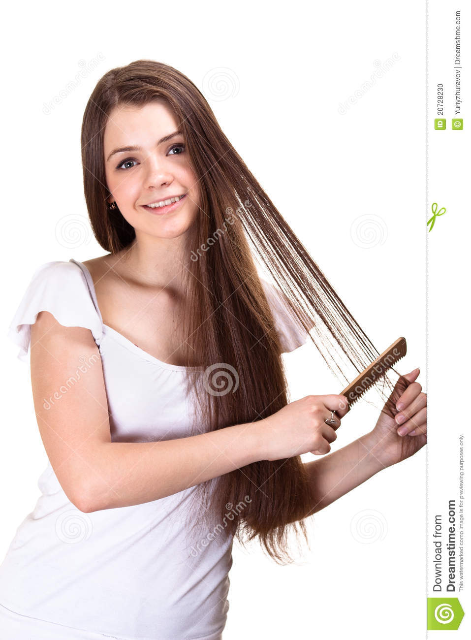 More similar stock images of beautiful youth teen girl with comb