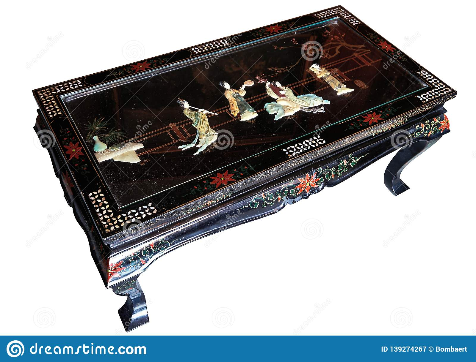 Beautifull Decorated Antique Japanese Living Room Table ...