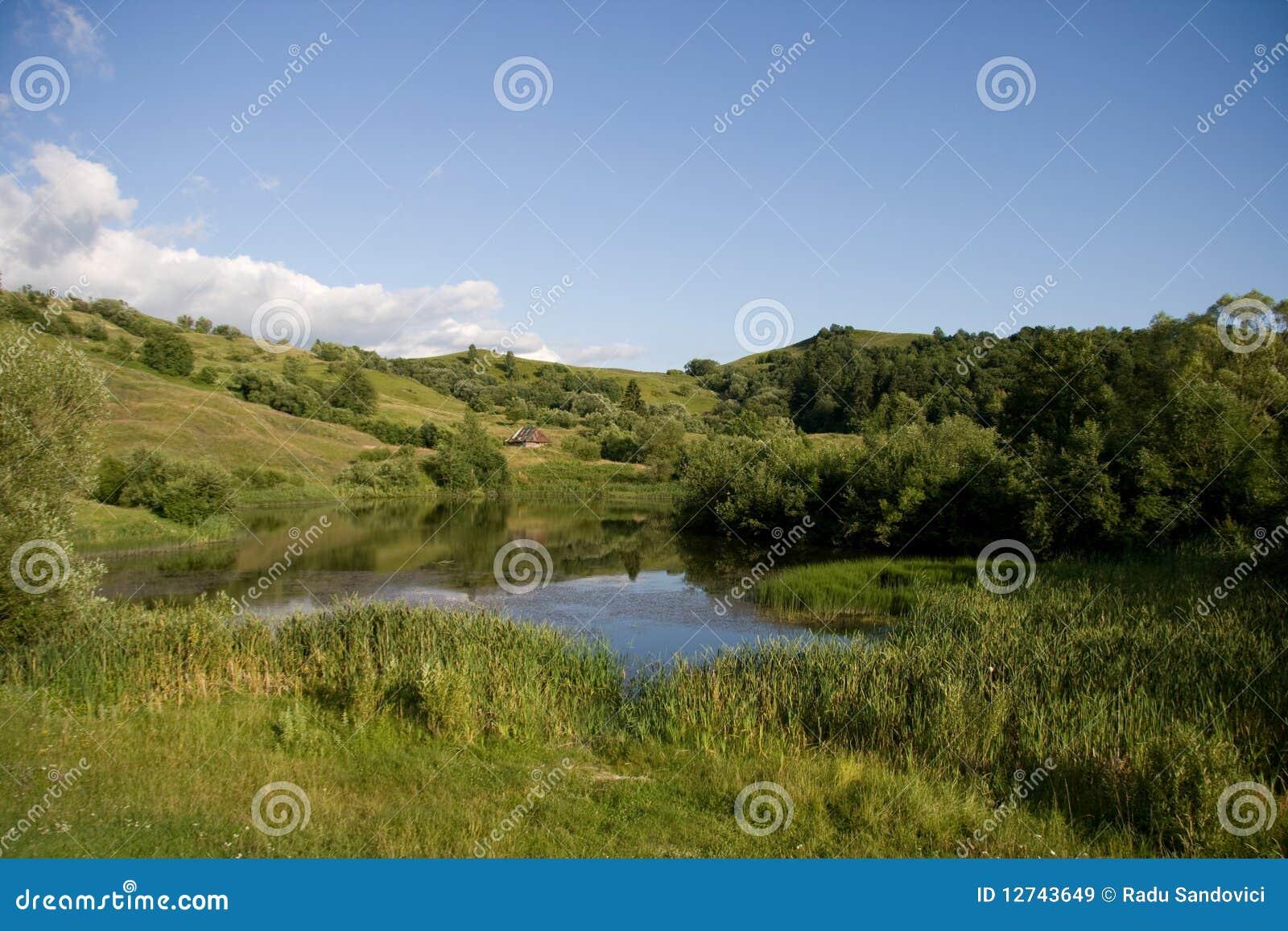 Beautifull hill landscape in romania royalty free stock for Romania landscape
