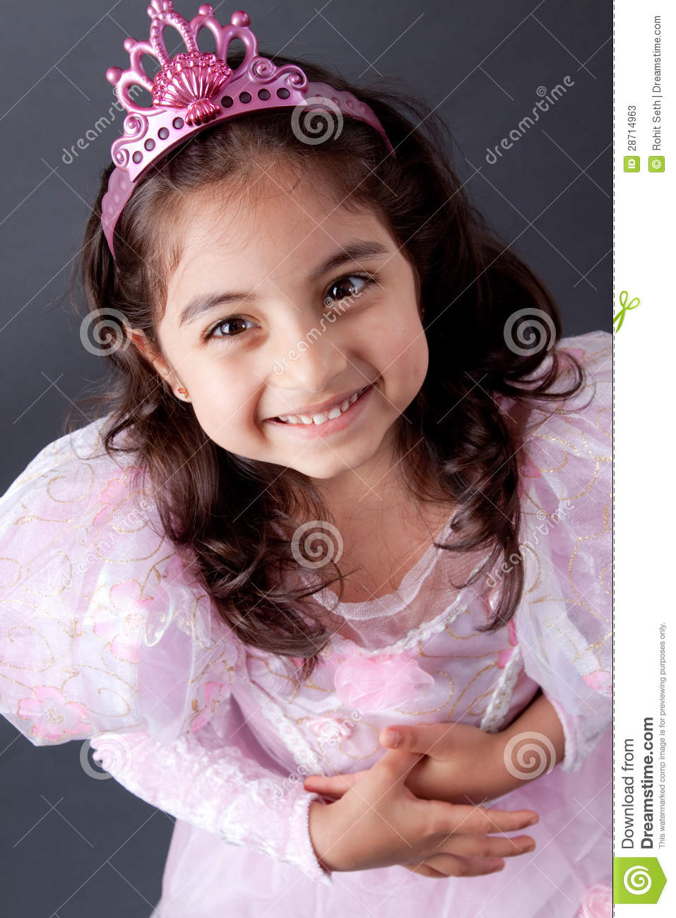Beautifull Indian girl in Princess outfit