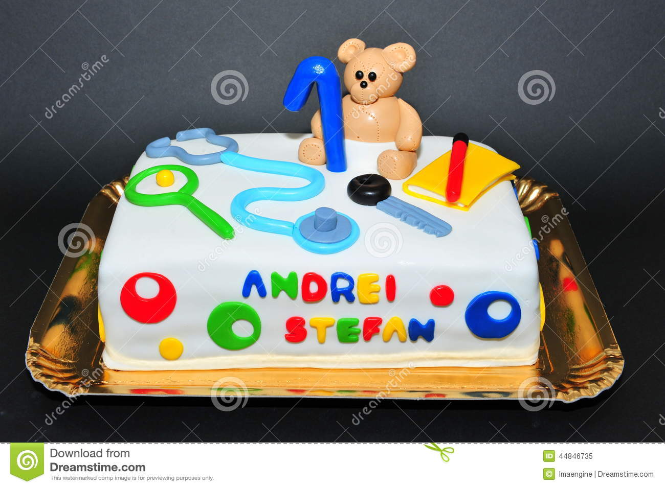 ... Photo: Beautifully crafted fondant birthday cake for one year old kids