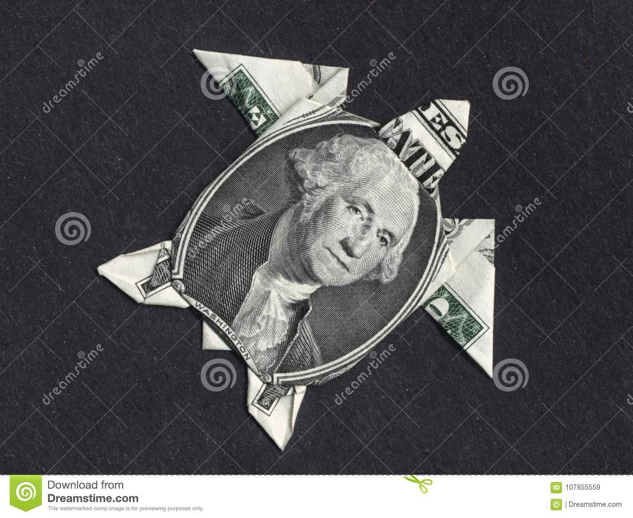 Money origami sea turtle dollar bill art stock image image money origami sea turtle dollar bill art jeuxipadfo Choice Image
