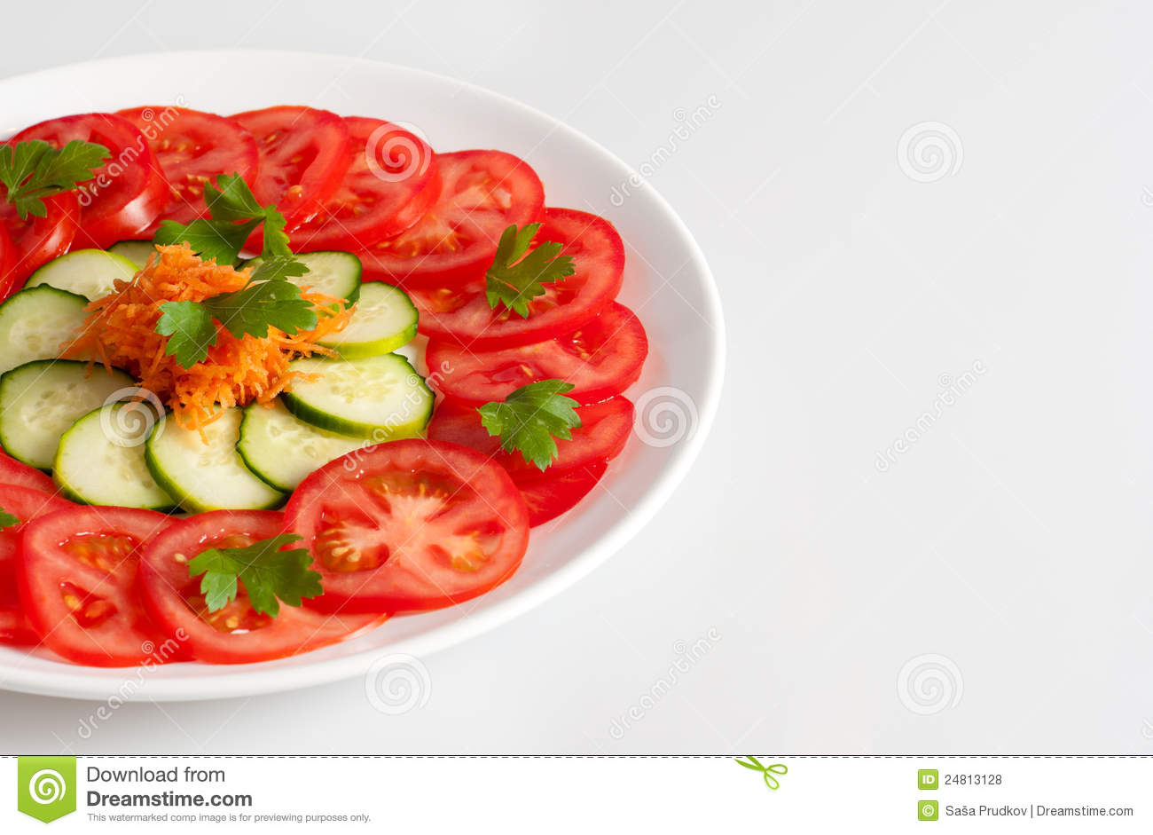 Beautifully Decorated Fresh Vegetable Salad Stock Photo Image Of