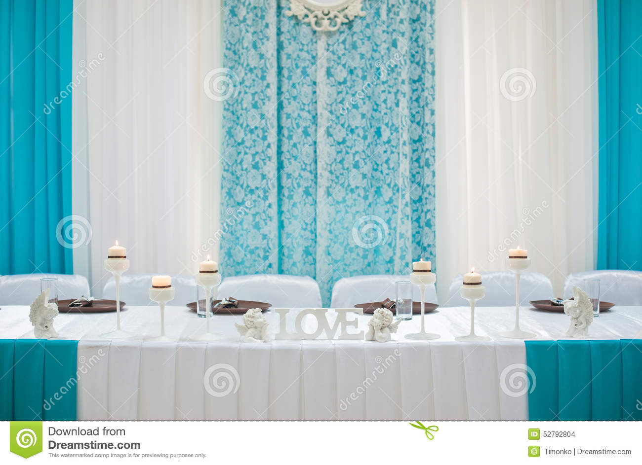 Bride Groom Table Decoration Beautifully Decorated Wedding Table Bride And Groom At A Restaur