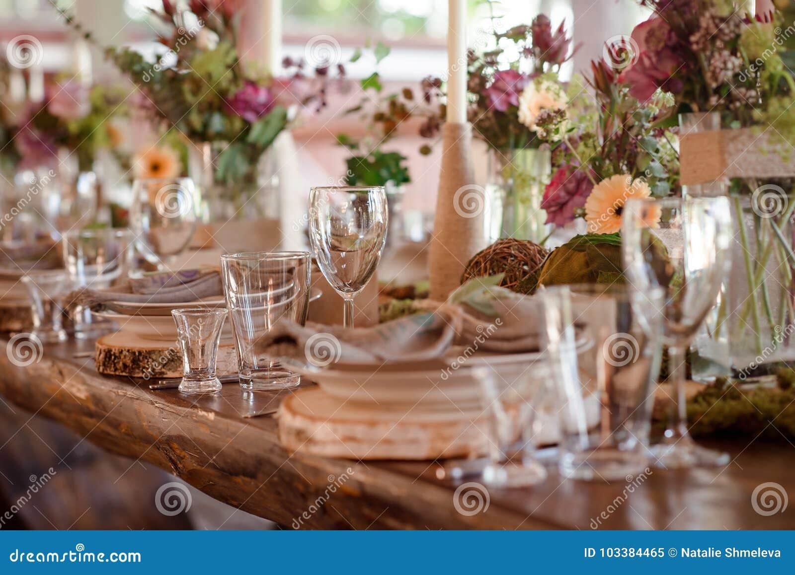 Wedding Table Decor Stock Image Image Of Greenery Celebrate