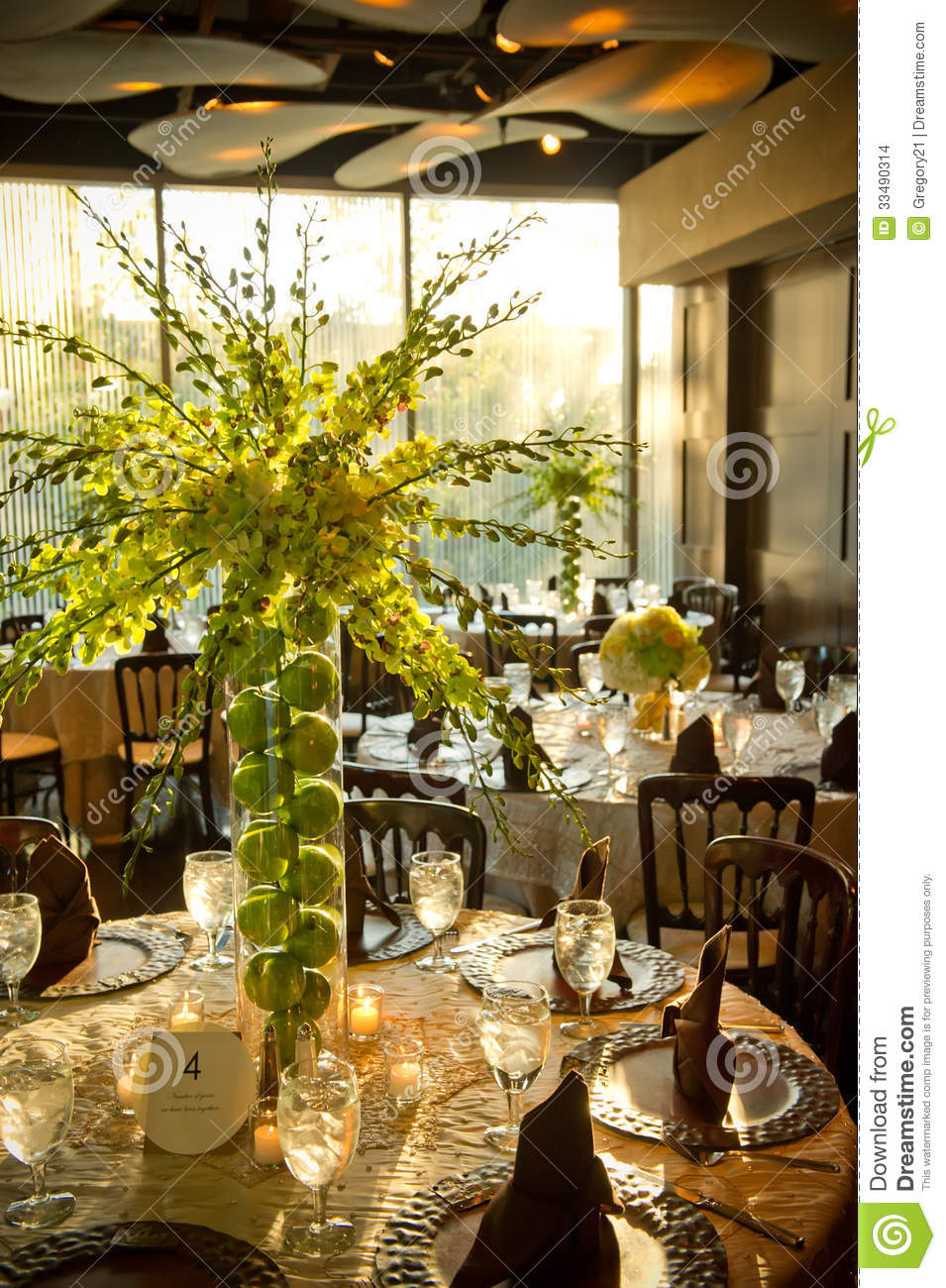 Beautifully decorated wedding venue stock images image for Pictures of wedding venues decorated