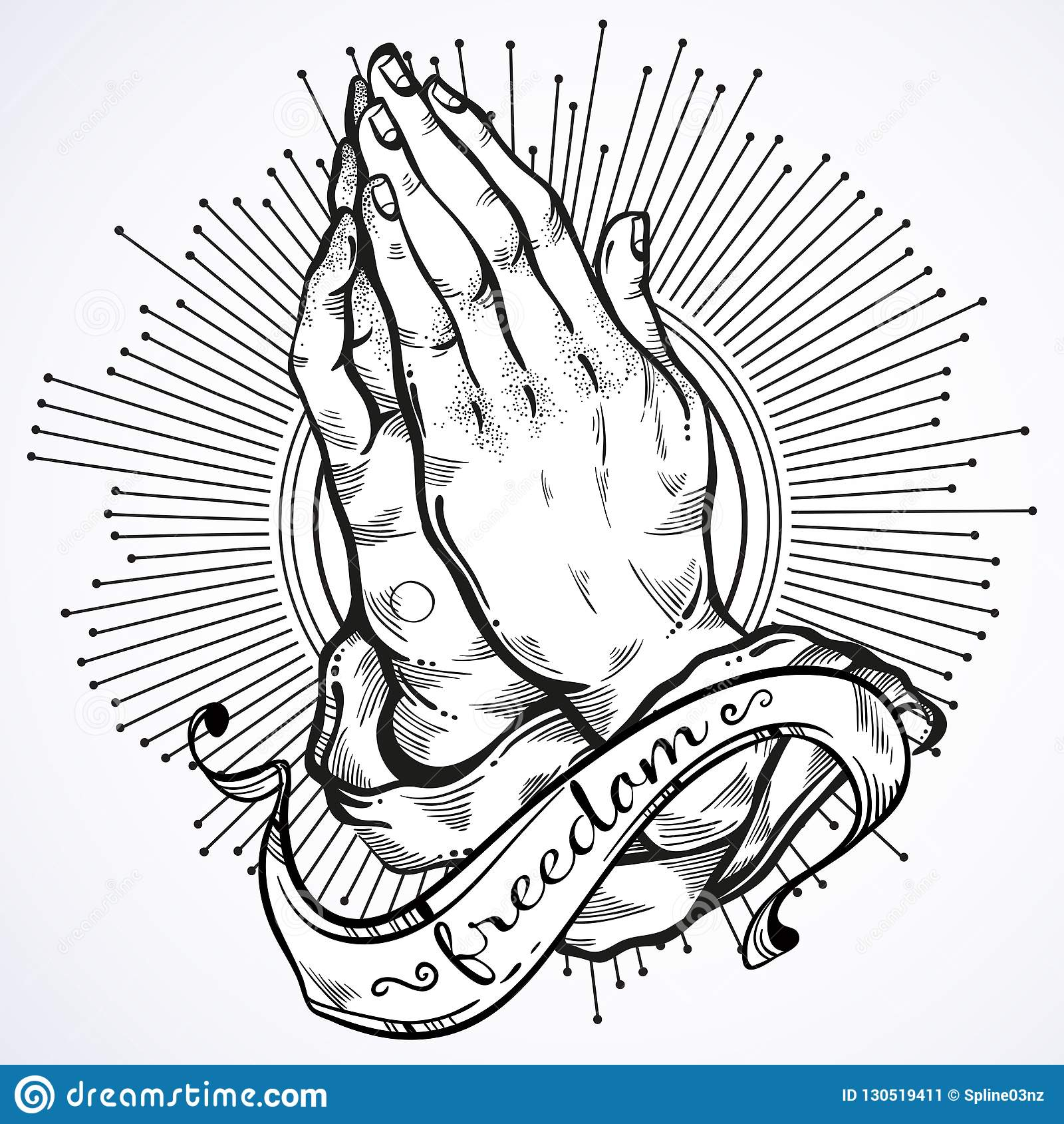 58e69fd216d31 Beautifully detailed human hands folded in prayer. Appeal to the God. Faith  and hope
