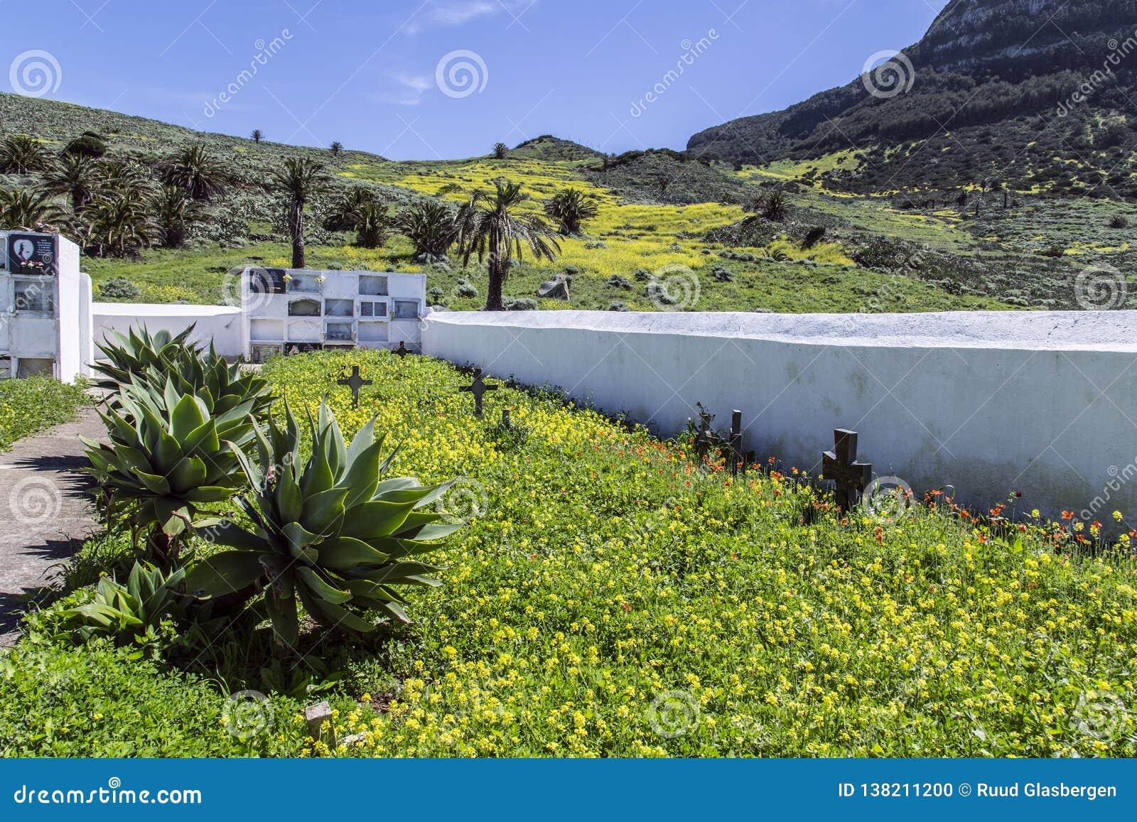 Cemetery in the mountains of La Gomera