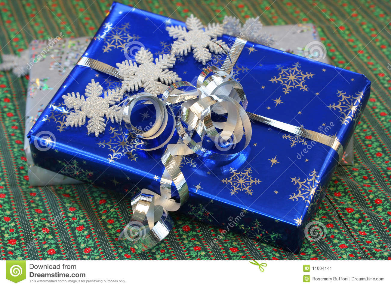 Beautifully wrapped christmas gifts stock image
