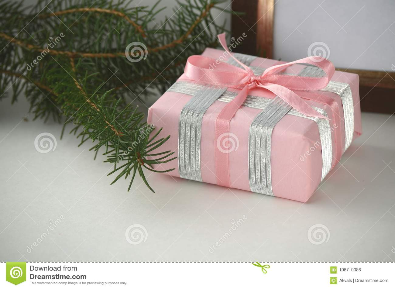 Christmas Gifts And Presents - Gift-wrapped Box With Copy Space ...