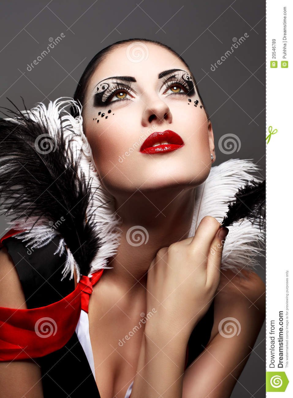 Nice Makeup Tutorial: Beauty Royalty Free Stock Images