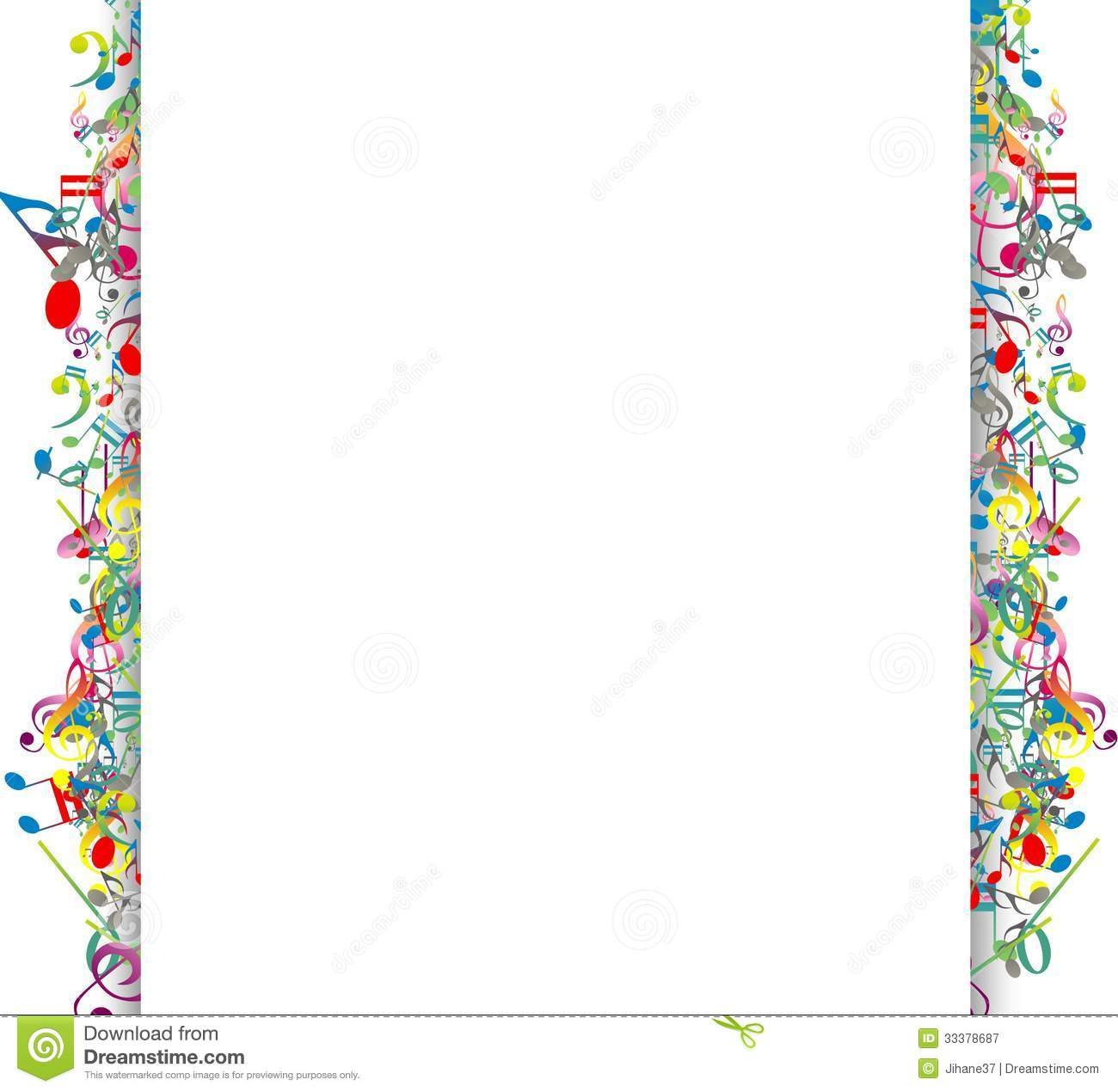 Beauty Abstract Background With Colorful Music Notes Stock ... Rainbow Music Notes Border