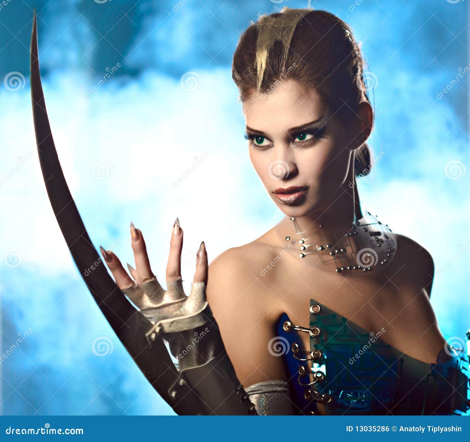 Beauty alien woman