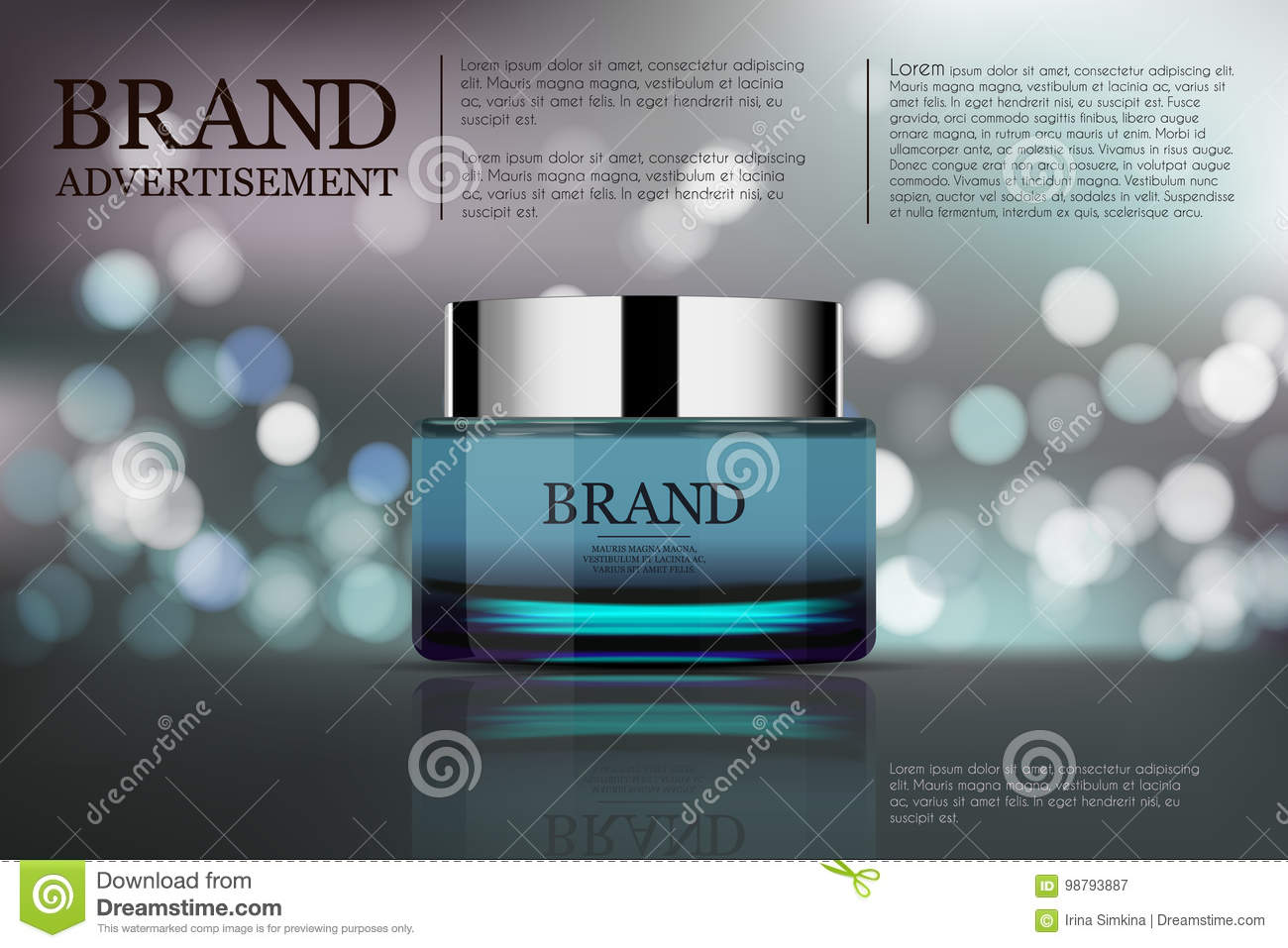 Beauty Anti Aging Cream Ad  Cosmetics Package Design  3d Vector