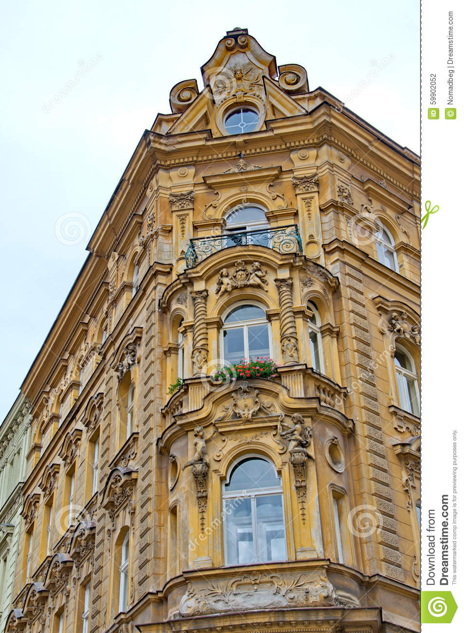 Beauty of baroque architecture in prague stock photo for Pictures of baroque architecture