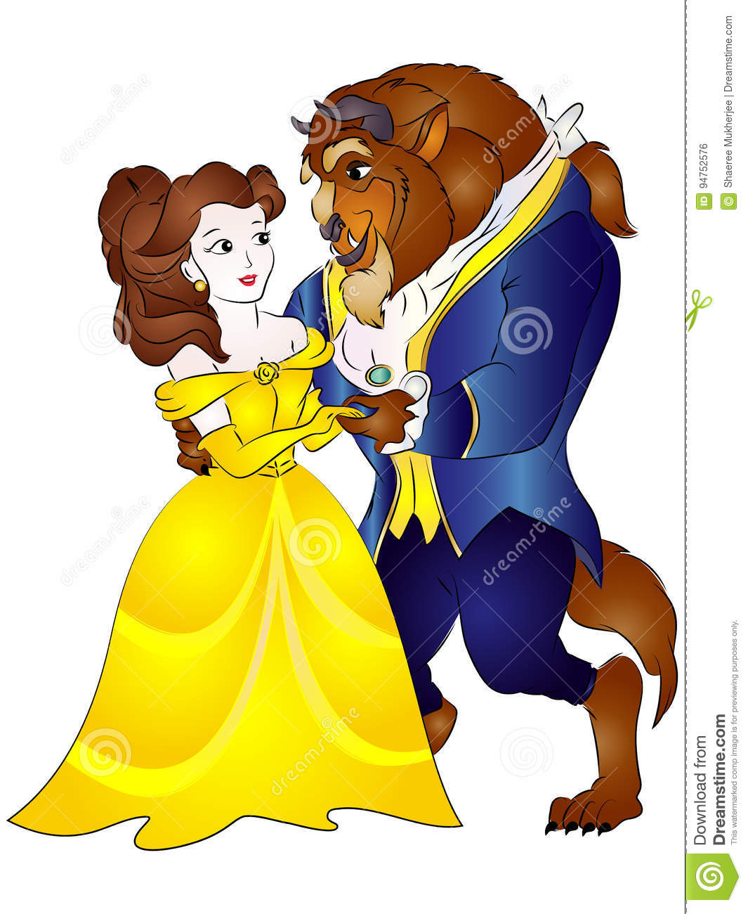 Beauty And The Beast Vector Illustration