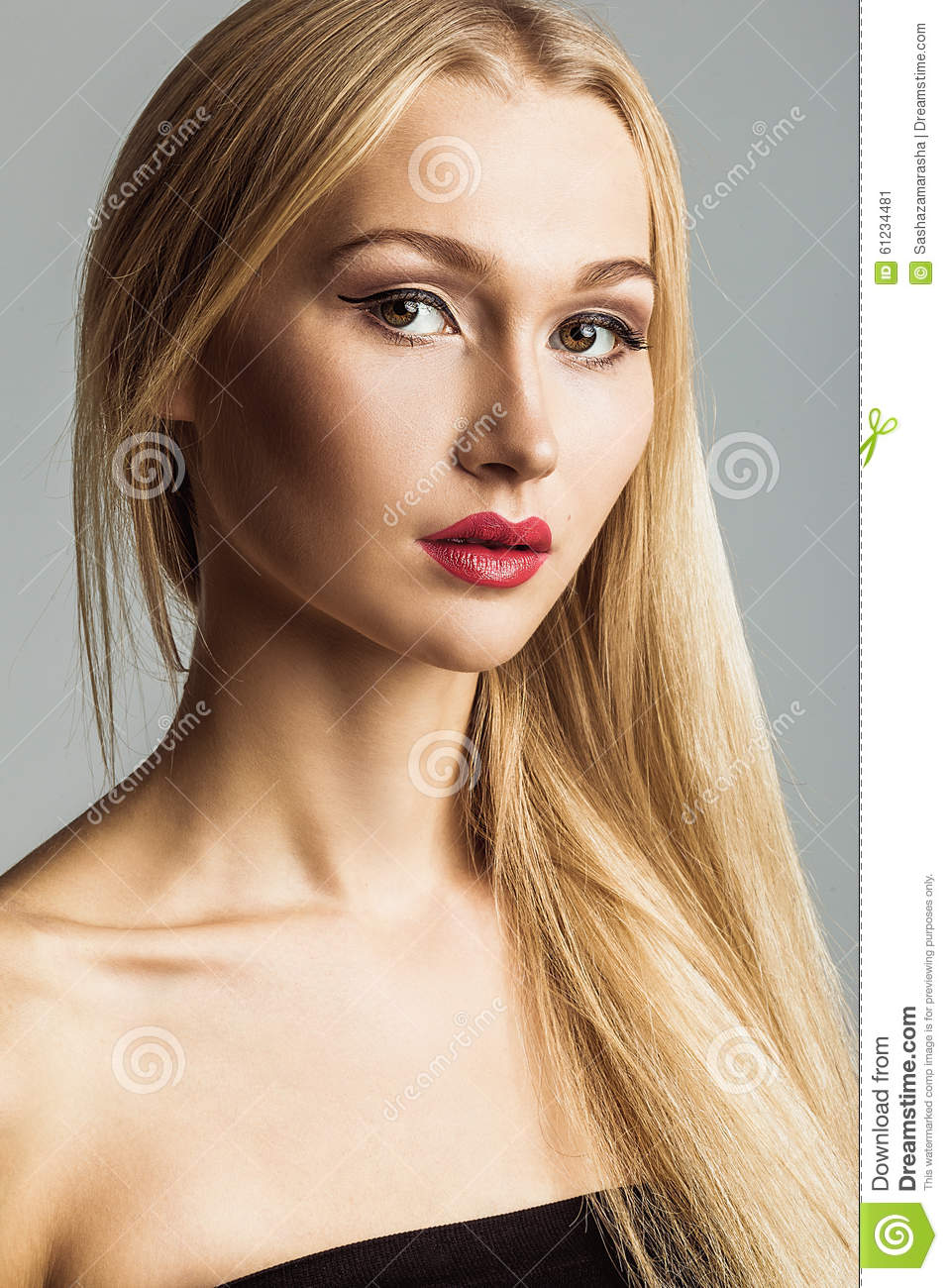 Girl with blonde hair and blue eyes clipart collection