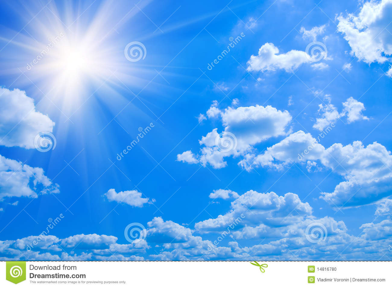 Beauty Blue Sky Clouds Stock Photo Image Of Energy