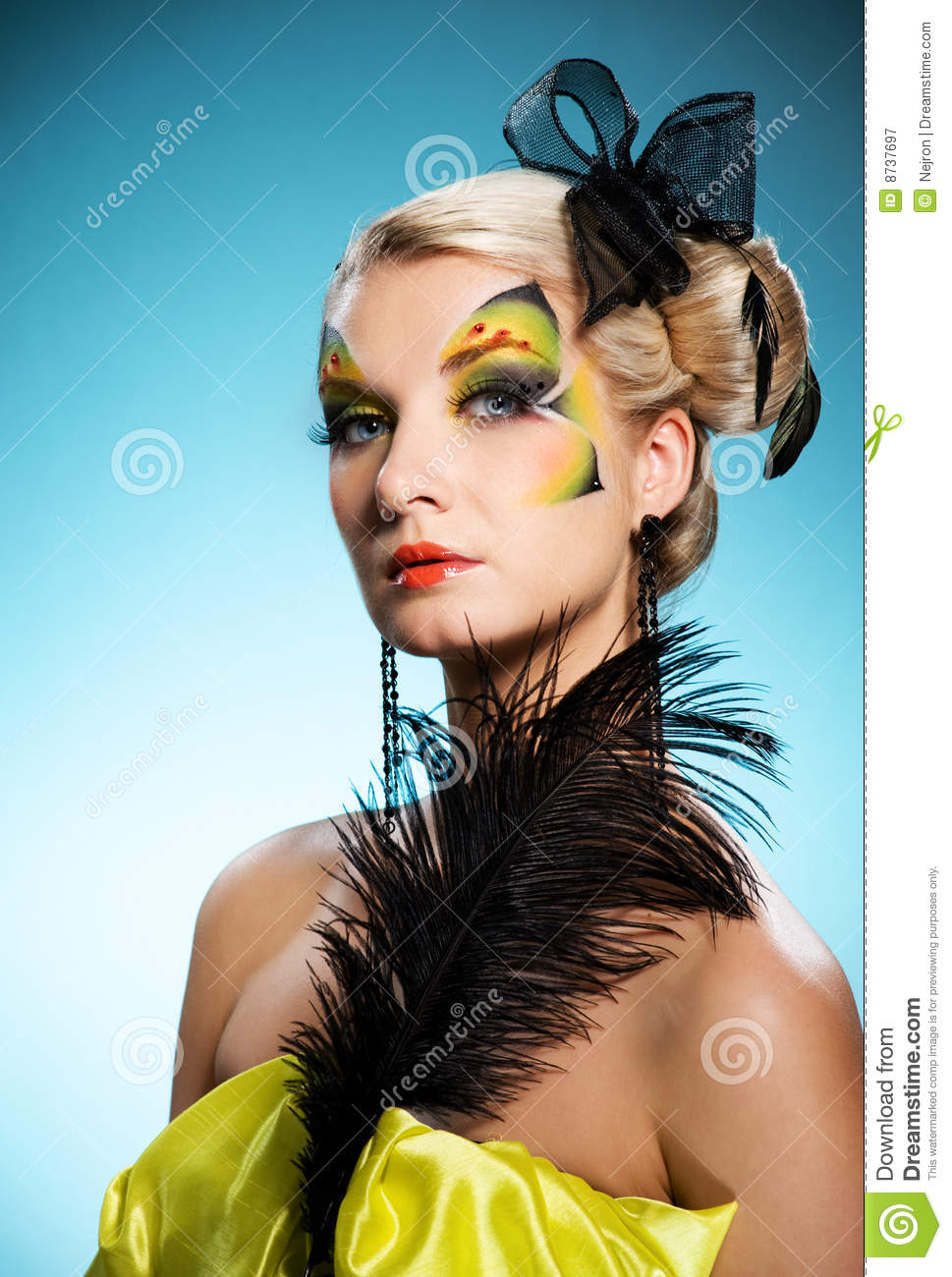 Beauty With Butterfly Face-art Royalty Free Stock Photography ...