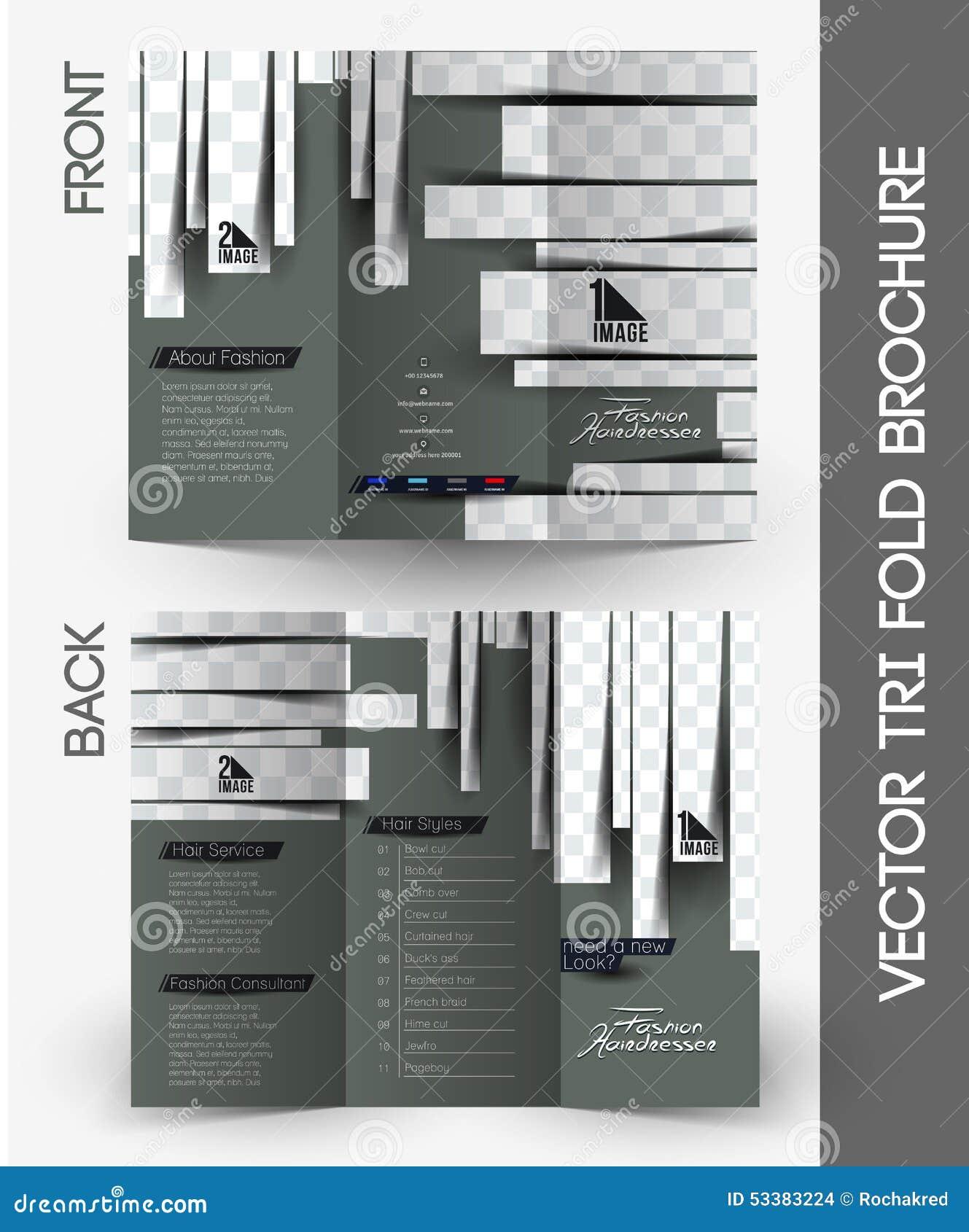 beauty care salon tri fold brochure