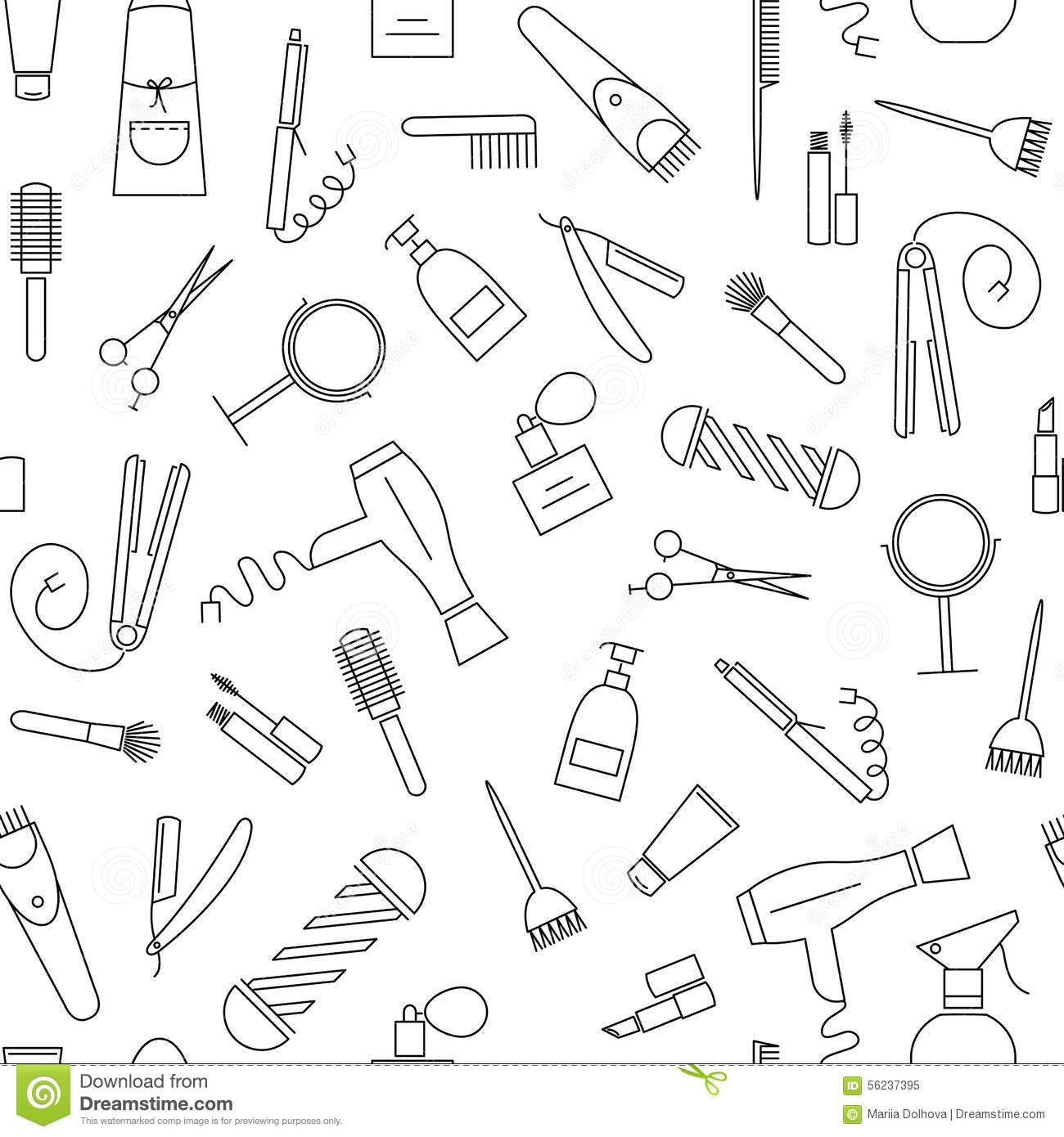 Beauty and care seamless pattern.