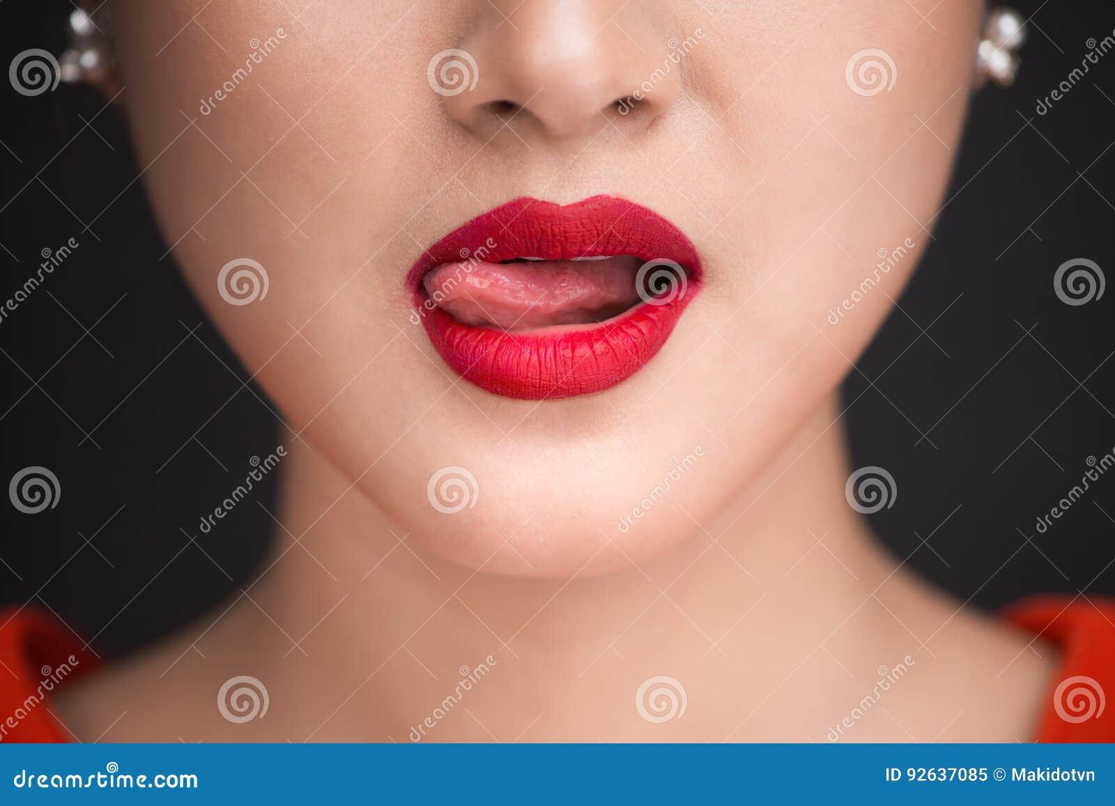 from Camden woman licking cum lips