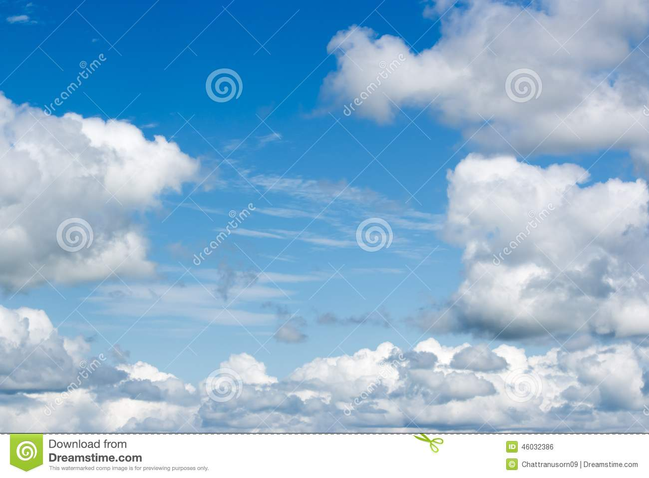 Beauty clouds and blue sky stock photo. Image of high ...