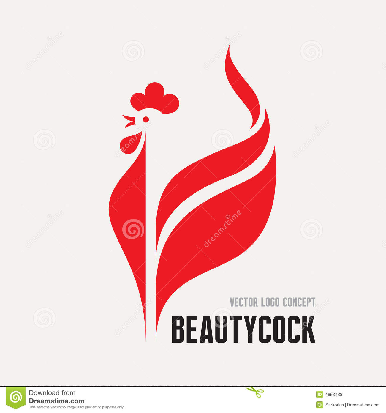 Beauty cock rooster vector logo concept bird cock minimal illustration vector logo template - Cock designing ...