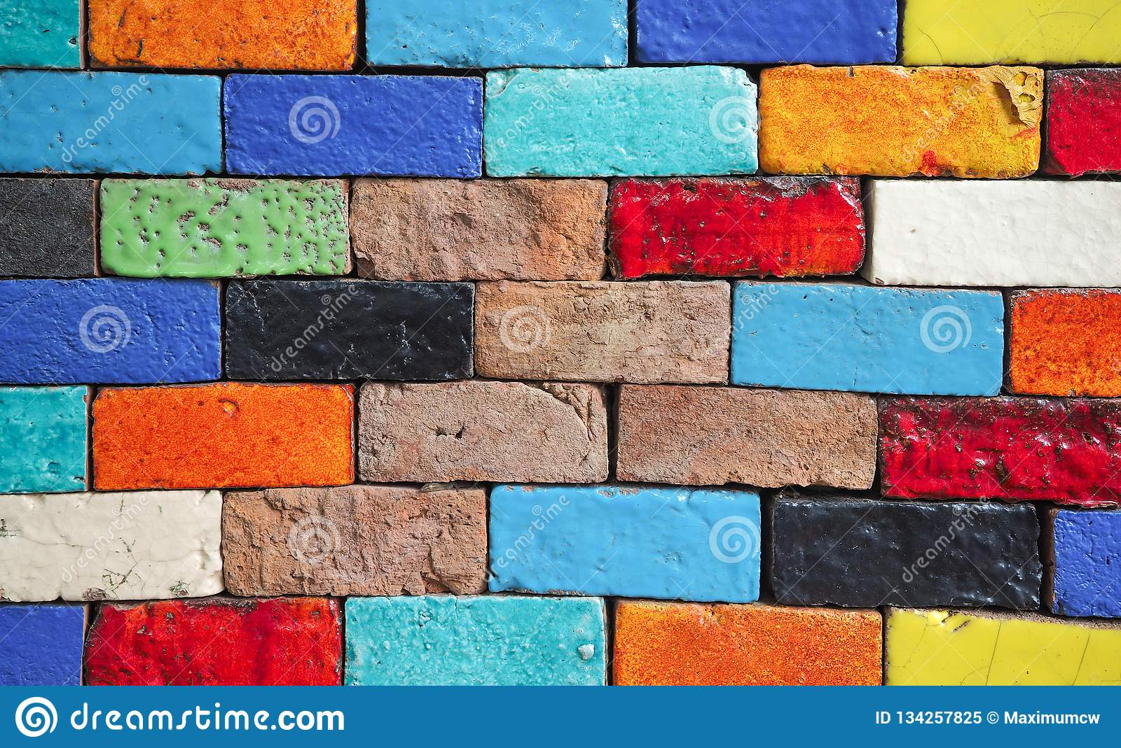 Beauty of the colorful brick walls