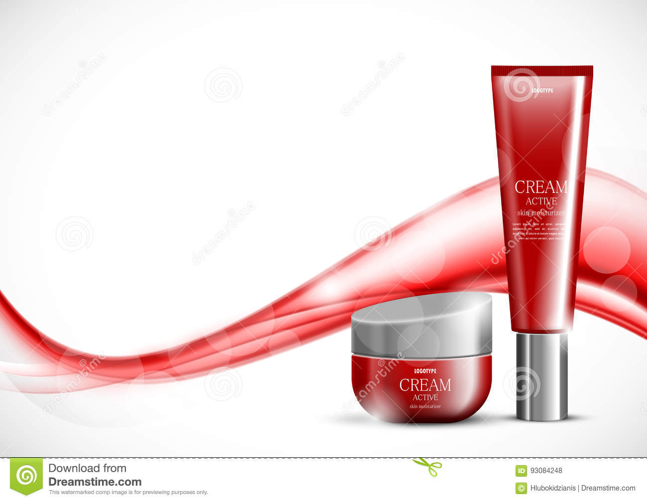 Beauty cosmetic light design template