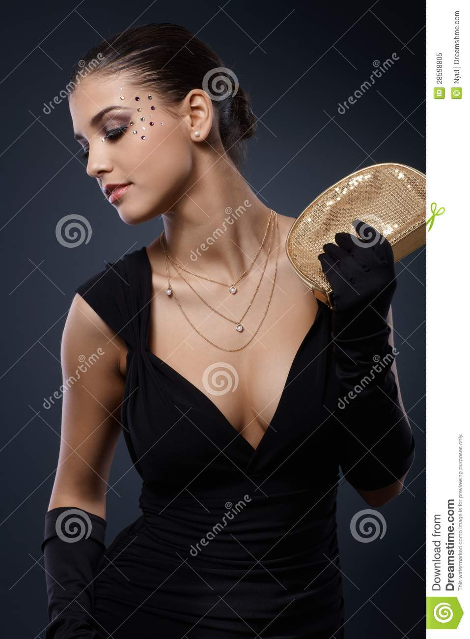 Beauty Dressed For Elegant Party Royalty Free Stock Photo - Image 28598805