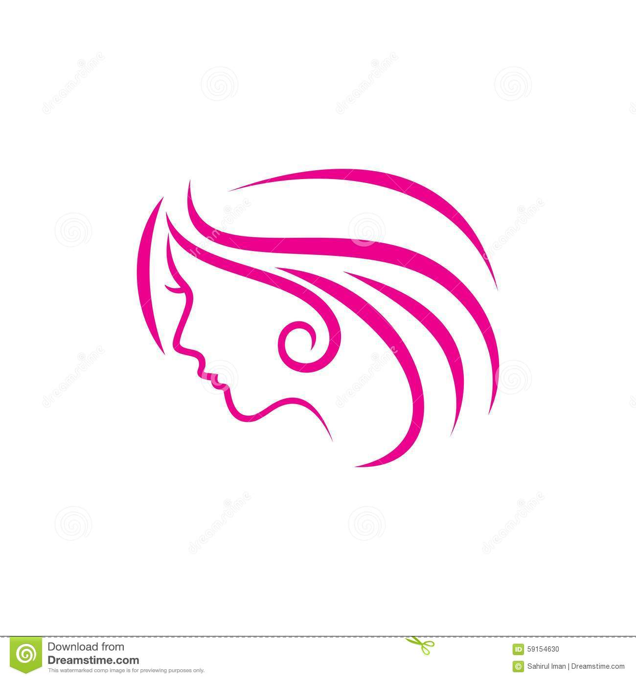 Beauty Face Vector Template Stock Vector Illustration Of Salon Logo 59154630