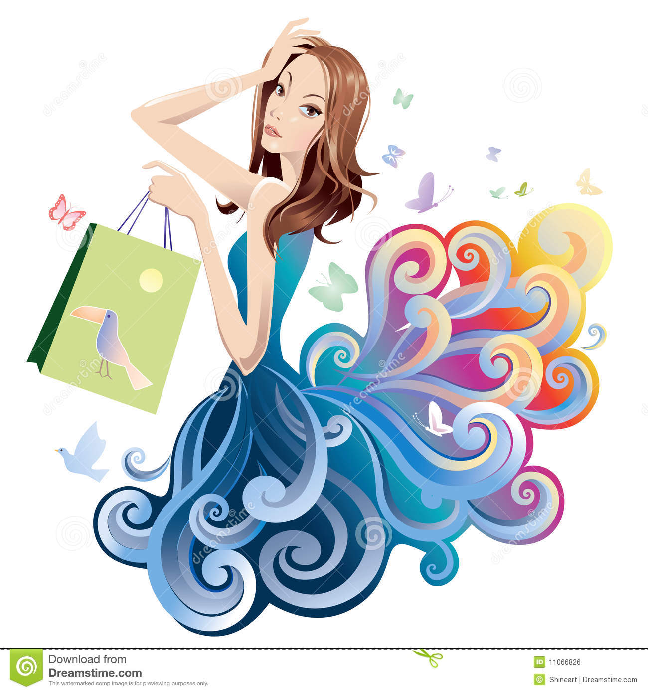 Beauty And Fashion Stock Vector. Image Of Shopaholic