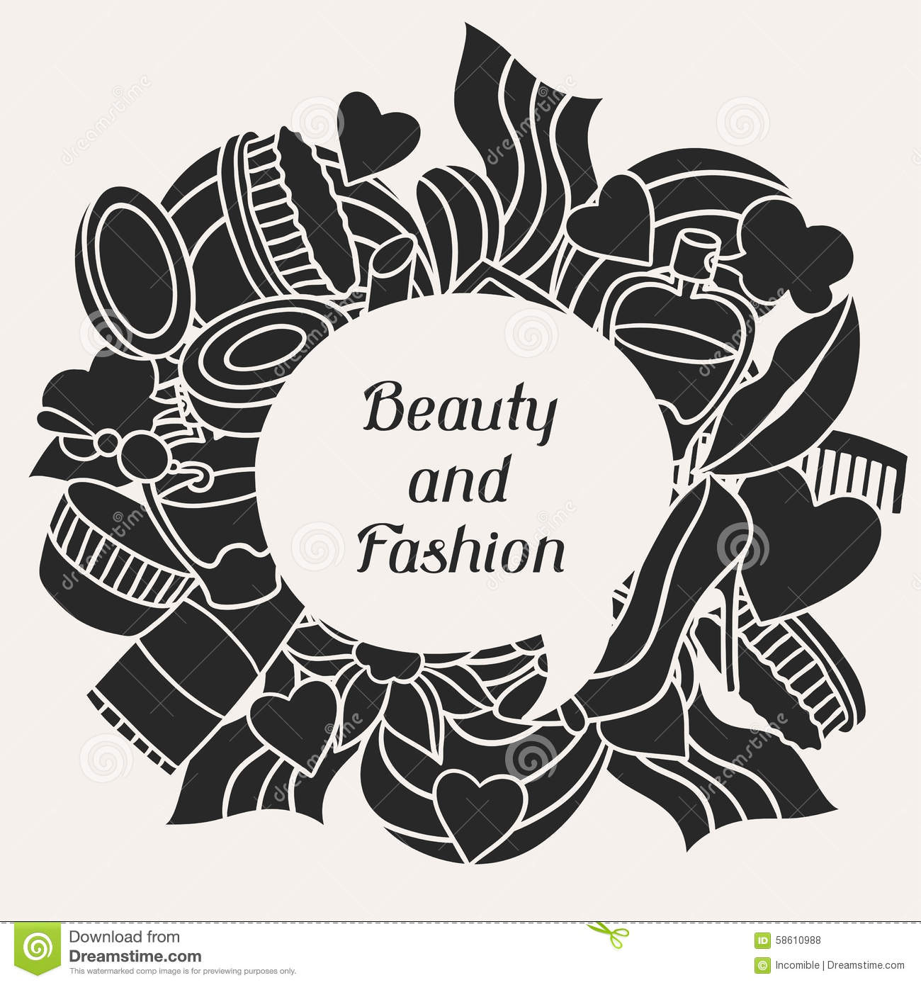 Beauty And Fashion Background Design With Cosmetic Stock Vector Image 58610988