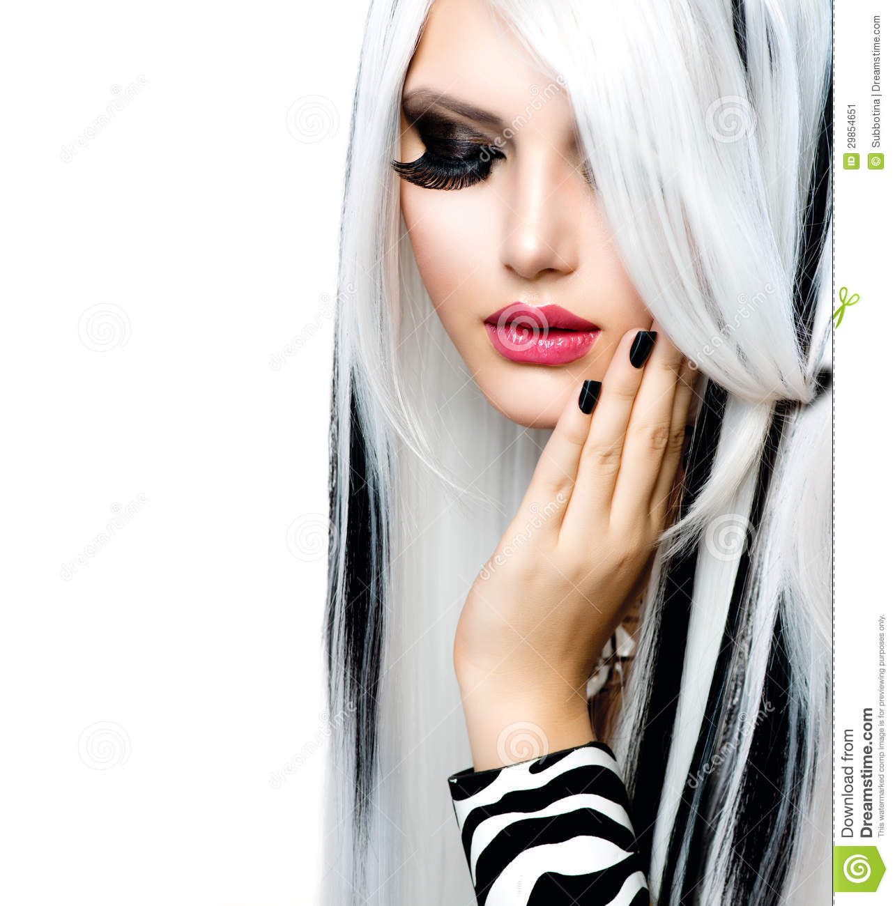 White Girl Fashion: Fashion Girl Black And White Style Stock Image