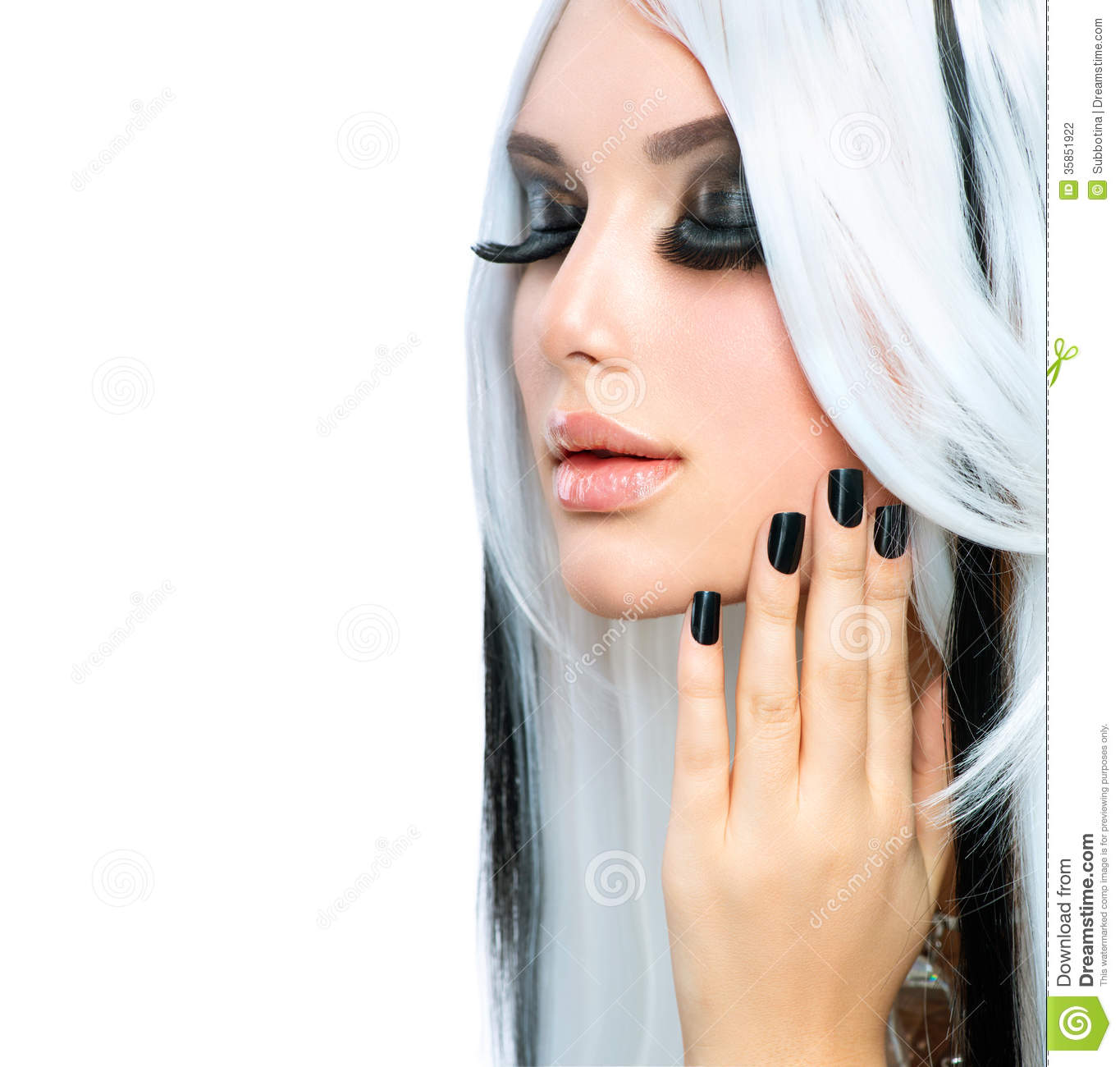 White Girl Fashion: Beauty Fashion Girl Stock Photo. Image Of Locks, Haircut