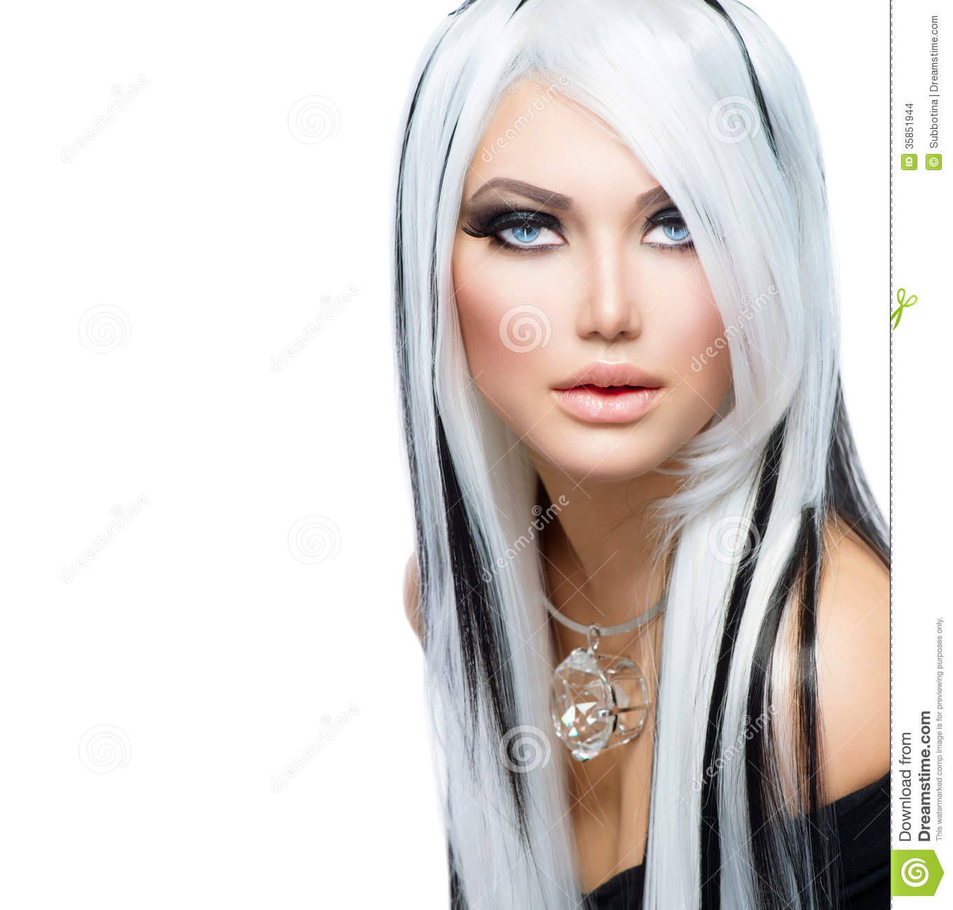 White Girl Fashion: Beauty Fashion Girl Stock Photo. Image Of Diamond