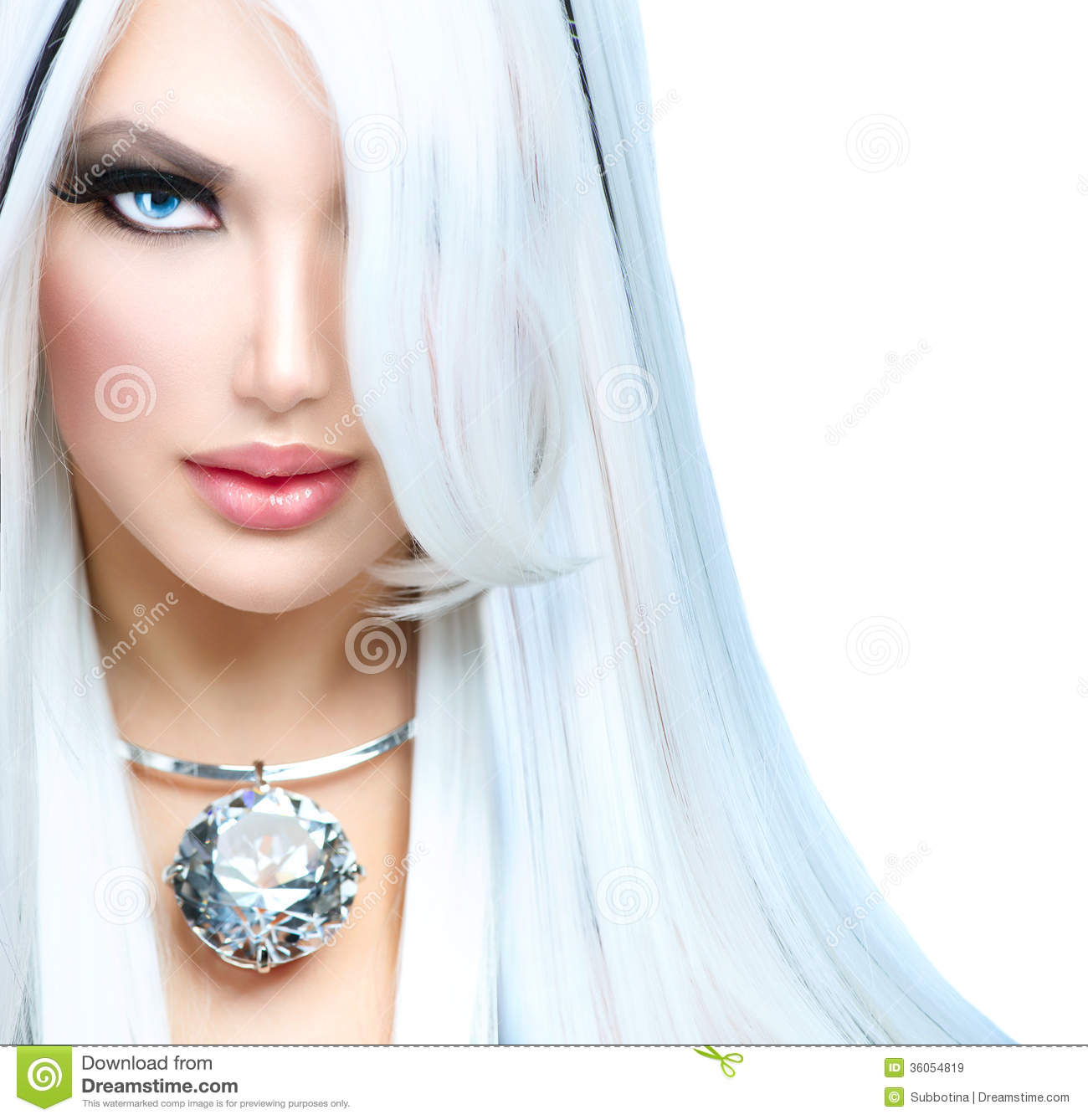 White Girl Fashion: Beauty Fashion Girl Stock Image. Image Of Face, Black