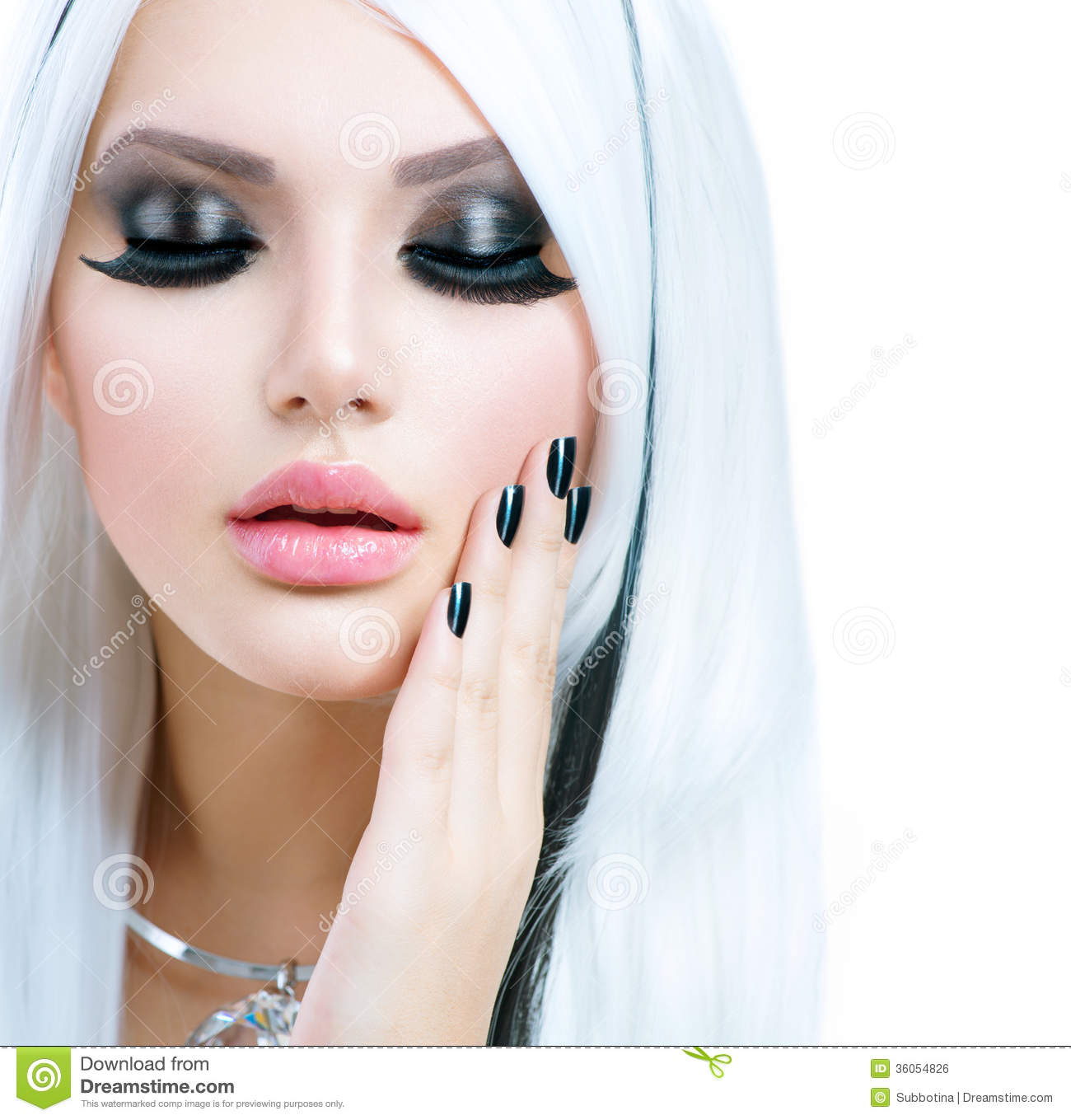 White Girl Fashion: Beauty Fashion Girl Royalty Free Stock Image