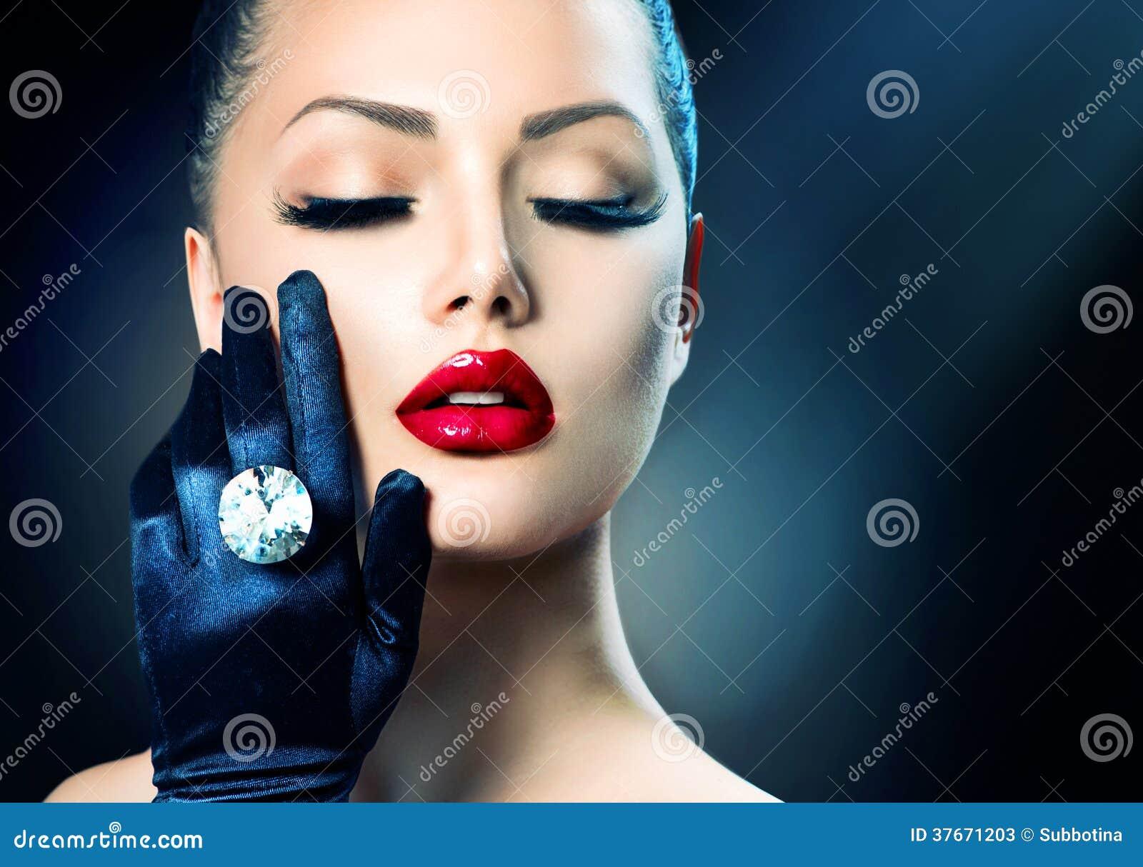 Beauty Fashion Glamour Girl Stock Image