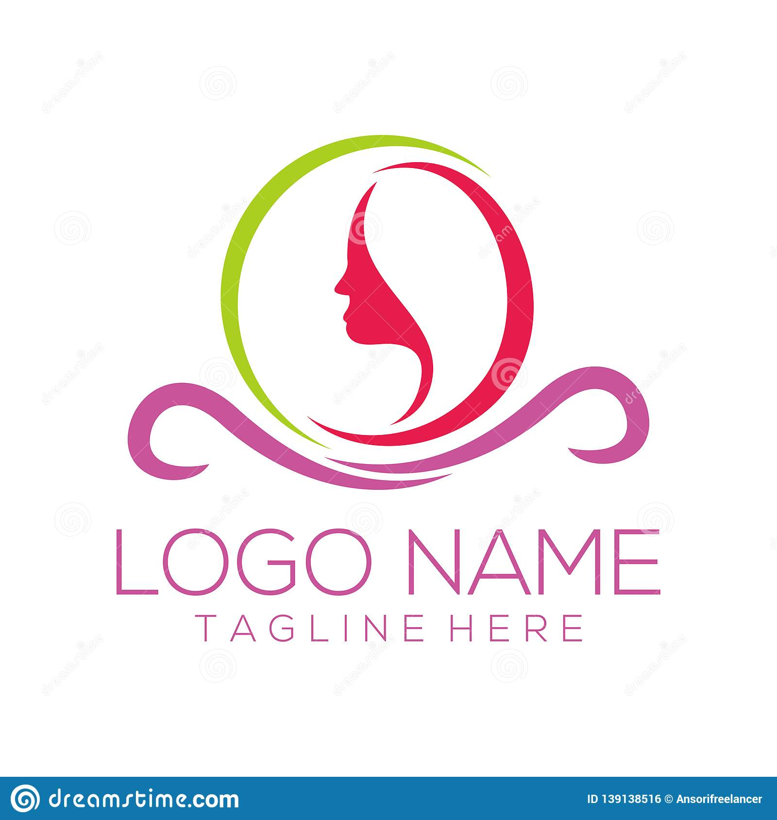 Beauty And Fashion Logo Design And Icon Stock Vector Illustration Of Leaf Boutique 139138516
