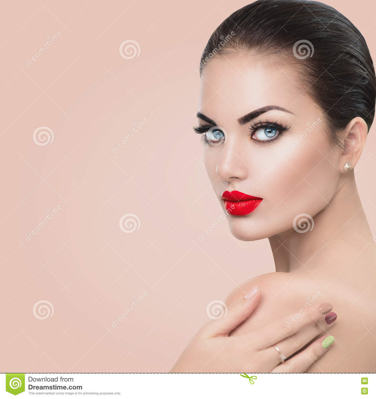Beauty Fashion Model Woman Stock Photo
