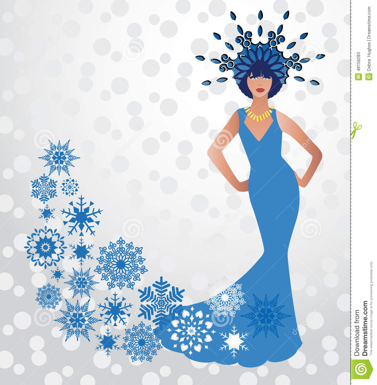 Beauty Fashion Winter Snow Queen Stock Vector Illustration Of Flakes Dress Download Adult Christmas 48158283