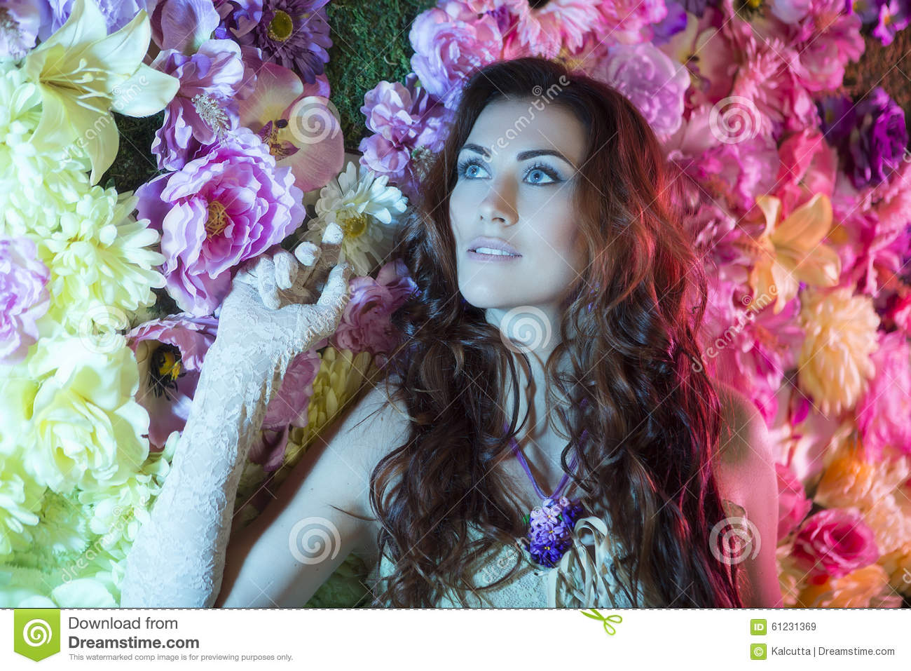 Beauty fashion women with flowers background summer and spring royalty free stock photo dhlflorist Gallery